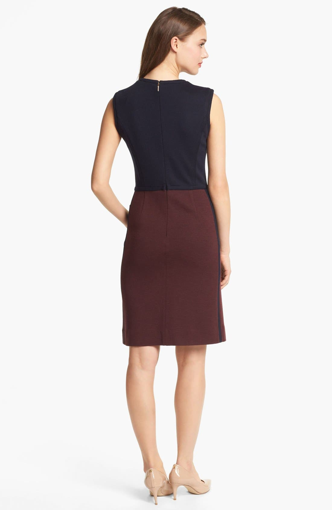 Alternate Image 2  - Tory Burch 'Brianna' Colorblock Sheath Dress
