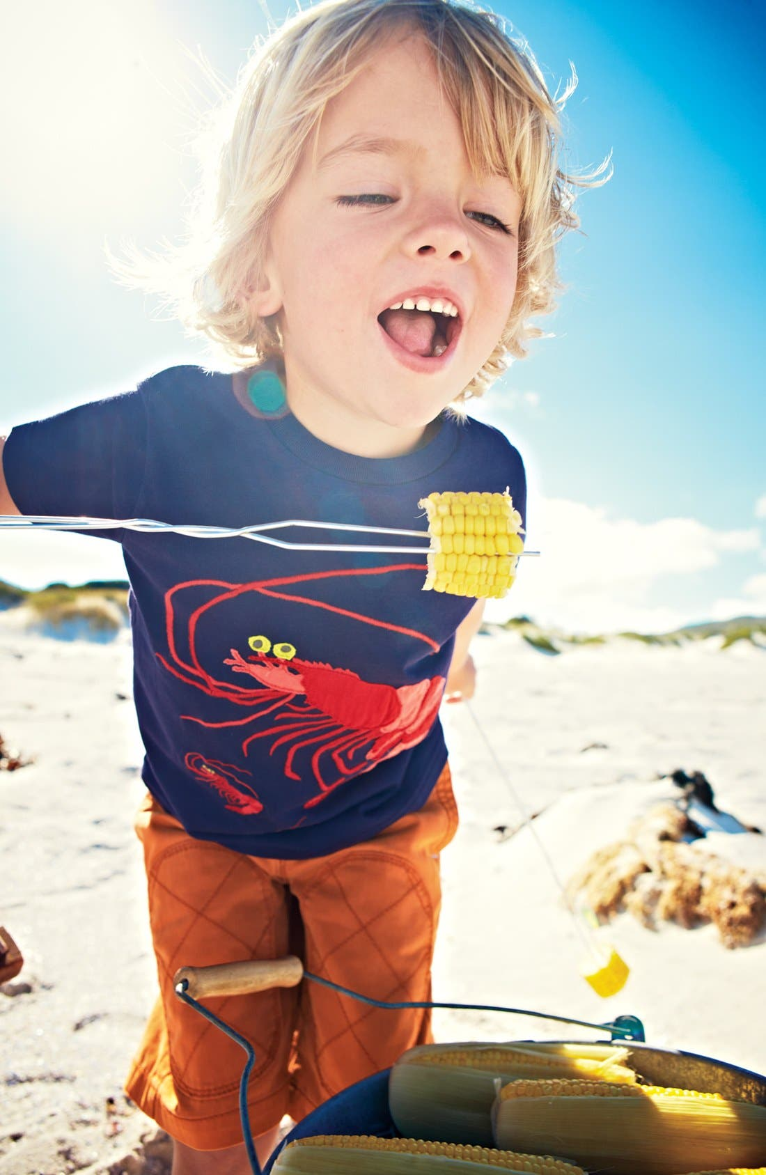 Main Image - Mini Boden T-Shirt & Drawstring Shorts (Toddler, Little Boys & Big Boys)