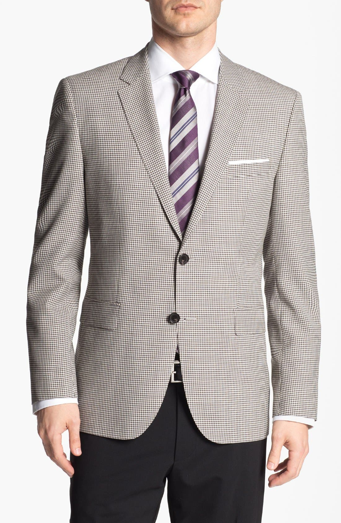 Alternate Image 1 Selected - BOSS HUGO BOSS 'James' Trim Fit Check Sportcoat