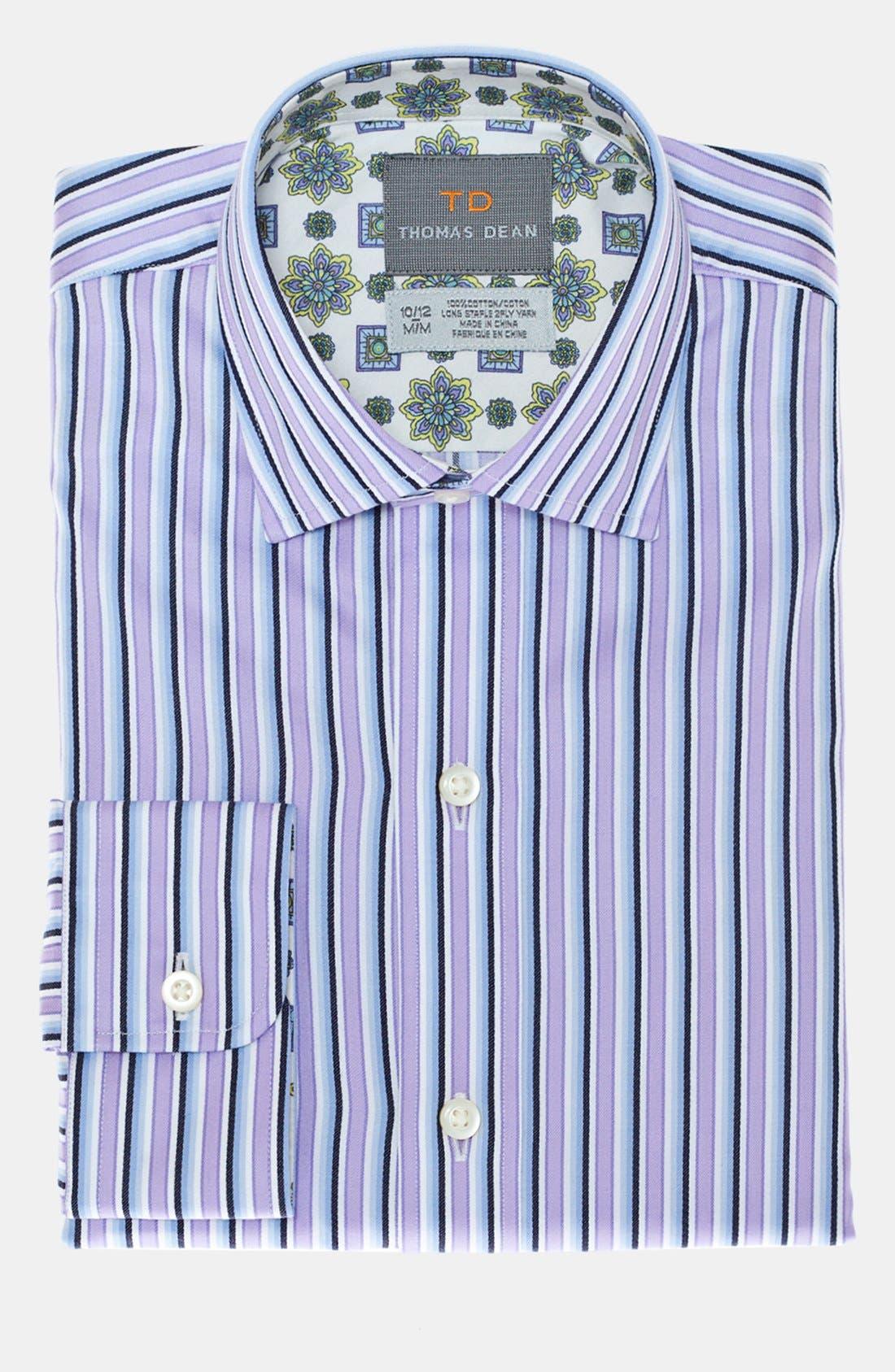 Main Image - Thomas Dean Stripe Dress Shirt (Big Boys)