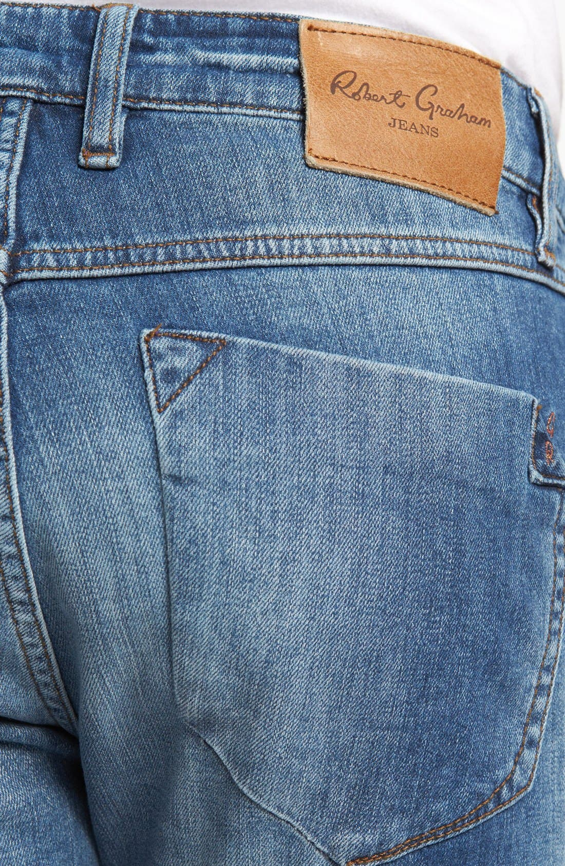 Alternate Image 4  - Robert Graham 'Stretchin' Out' Slim Fit Jeans (Indigo)