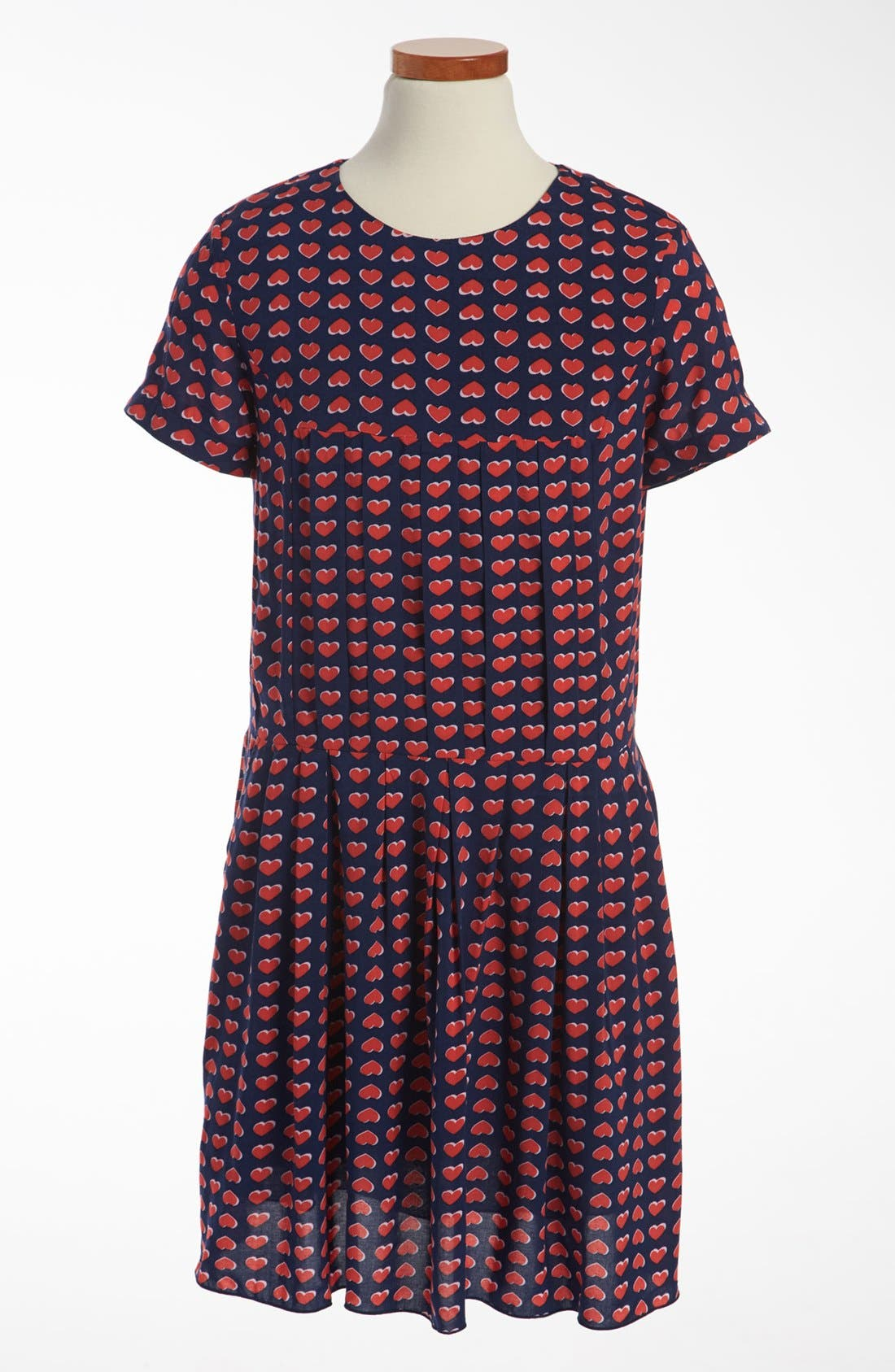 Alternate Image 1 Selected - LITTLE MARC JACOBS 'Heart Print' Woven Dress (Little Girls & Big Girls)