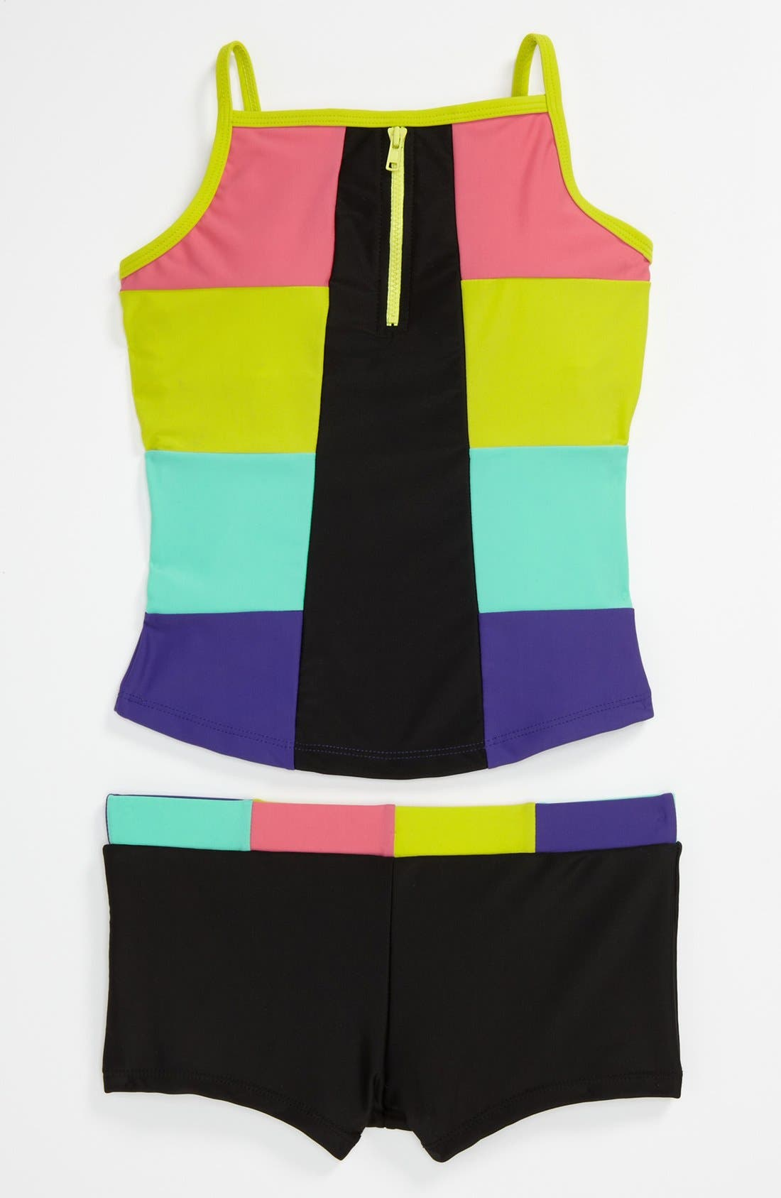 Alternate Image 1 Selected - Limeapple Two Piece Tankini Swimsuit (Little Girls & Big Girls)