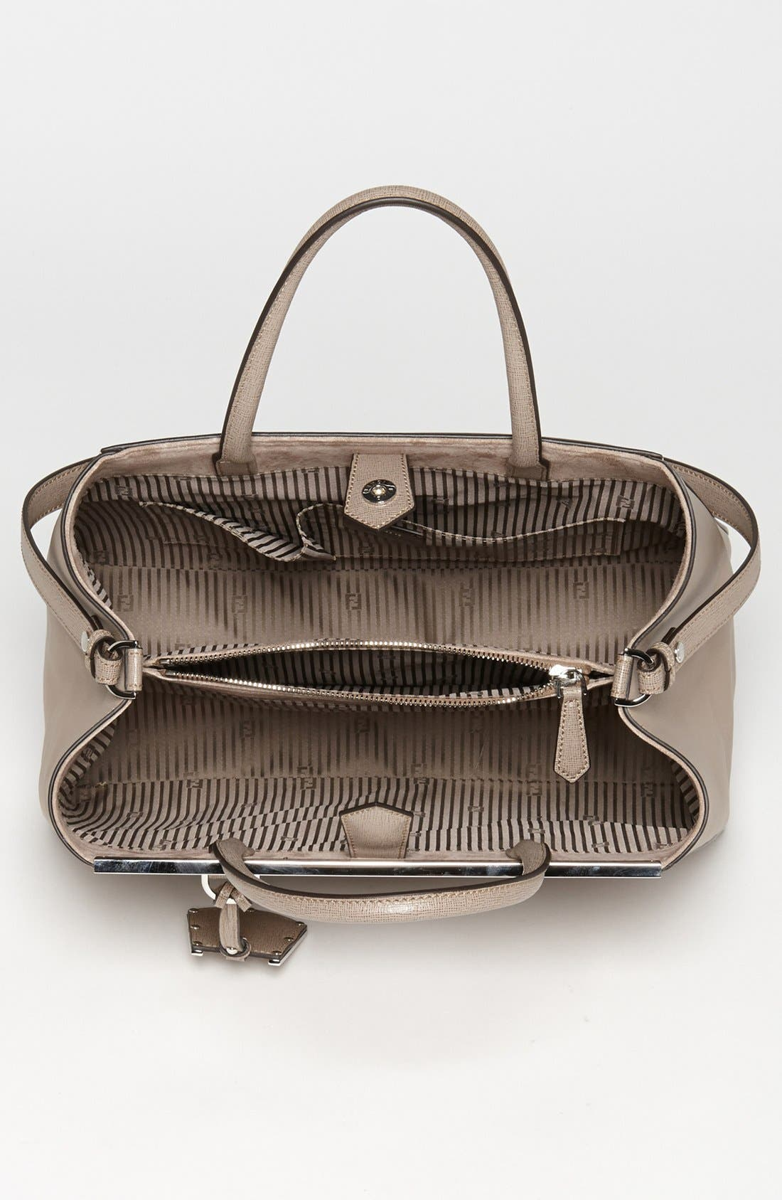 Alternate Image 4  - Fendi '2Jours Elite' Leather Shopper