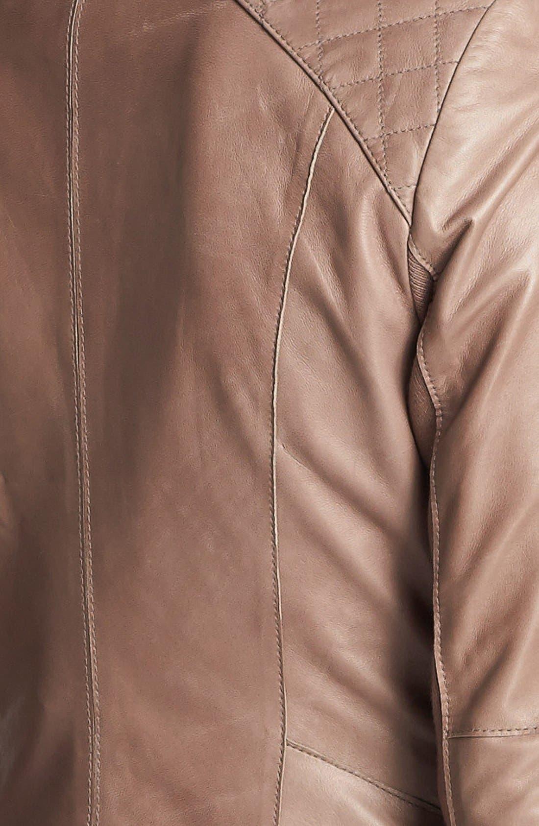 Alternate Image 4  - Halogen® Cutaway Leather Jacket