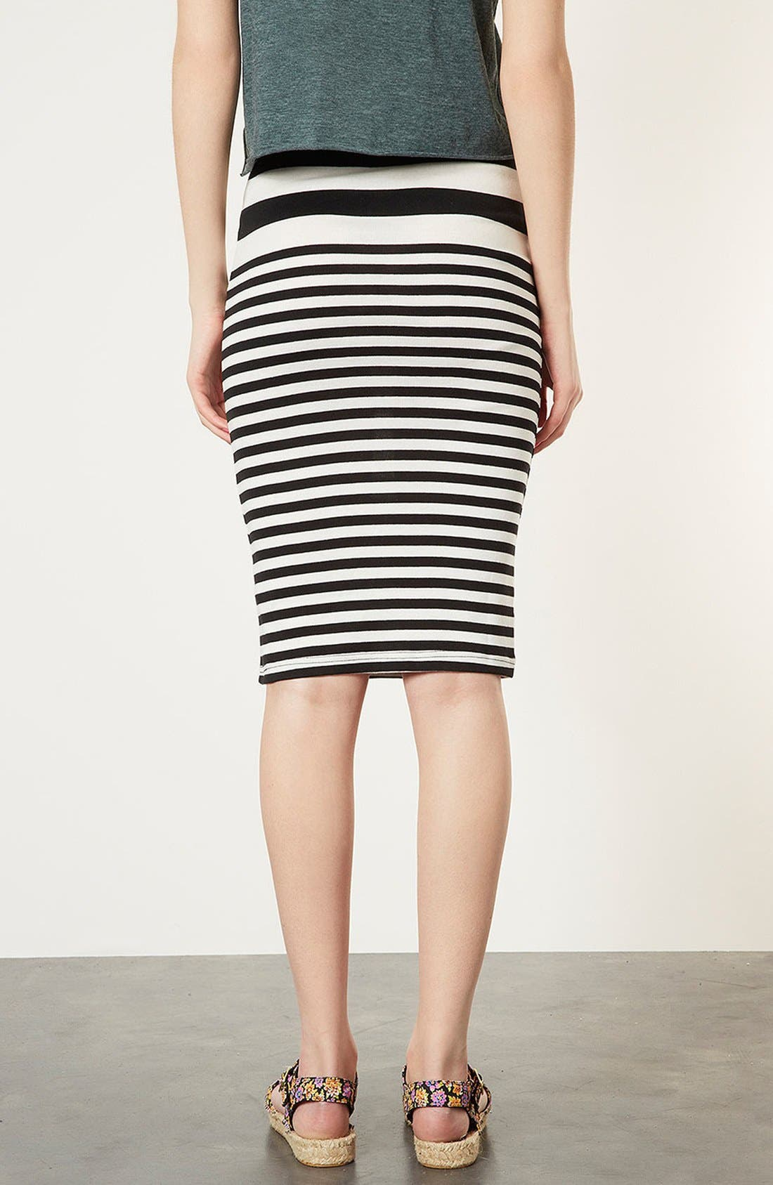 Alternate Image 2  - Topshop Stripe Tube Skirt