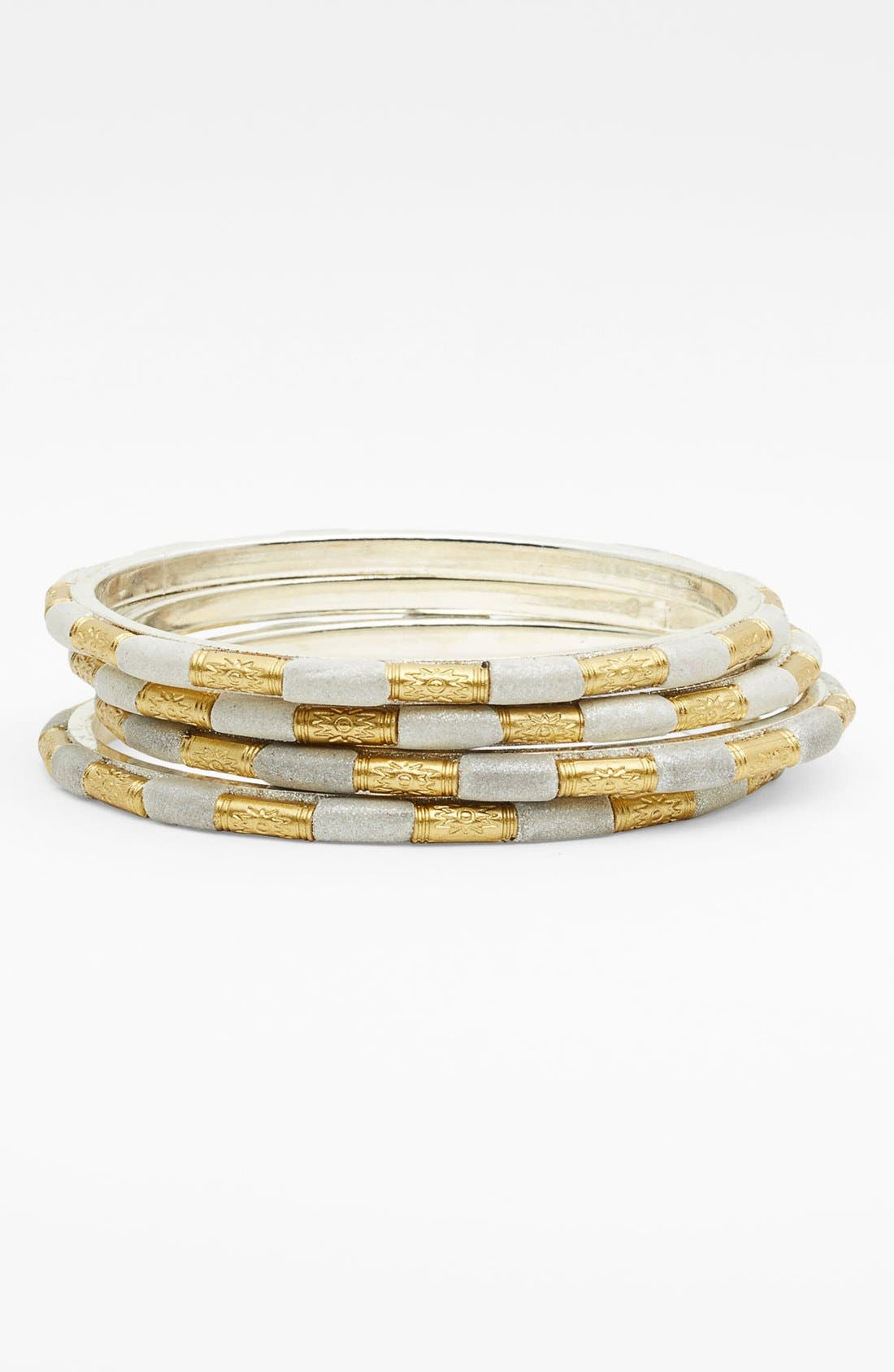Alternate Image 1 Selected - Chamak by Priya Kakkar Stacked Bangles (Set of 4)