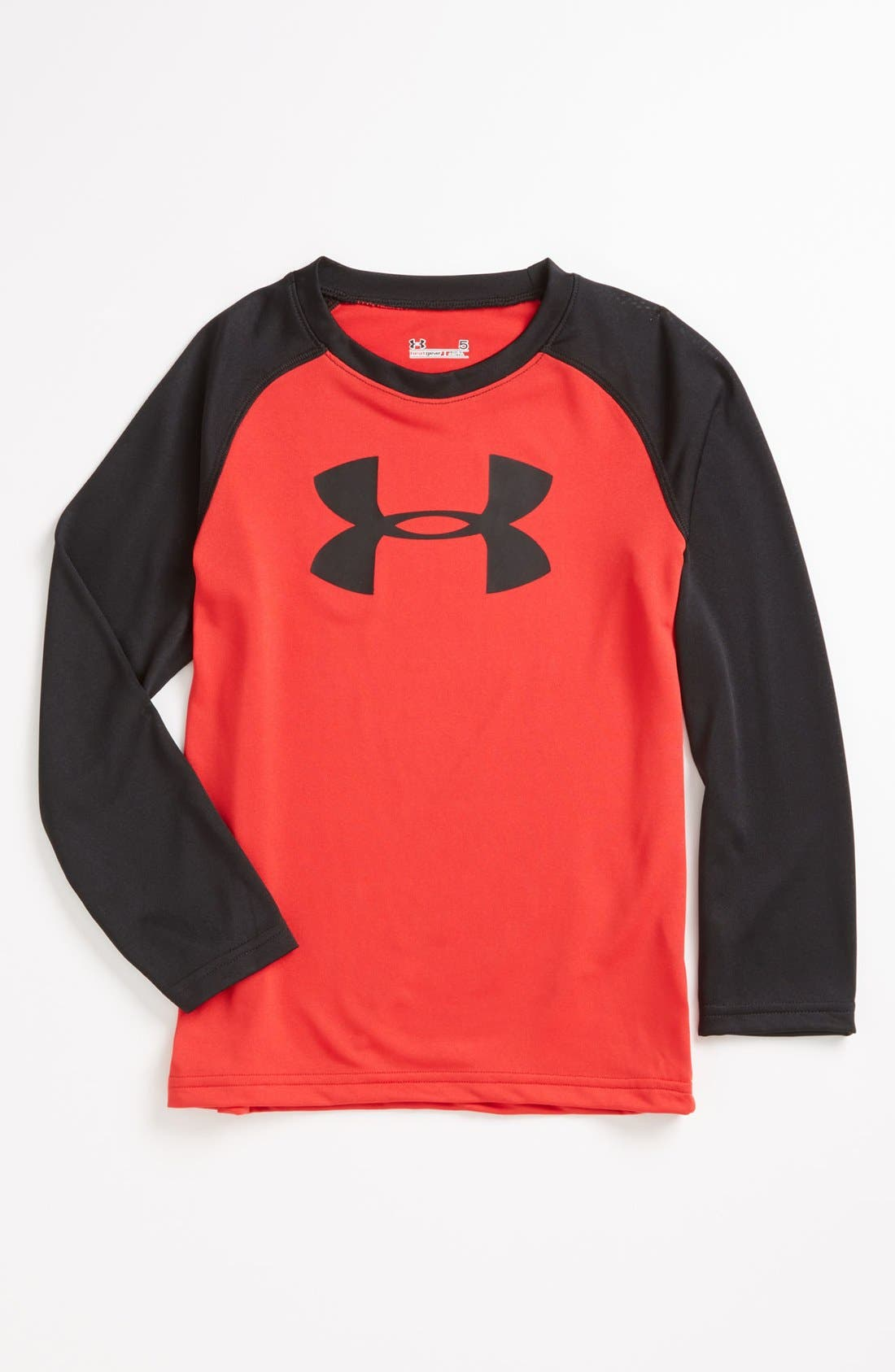 Main Image - Under Armour HeatGear® Raglan T-Shirt (Little Boys)