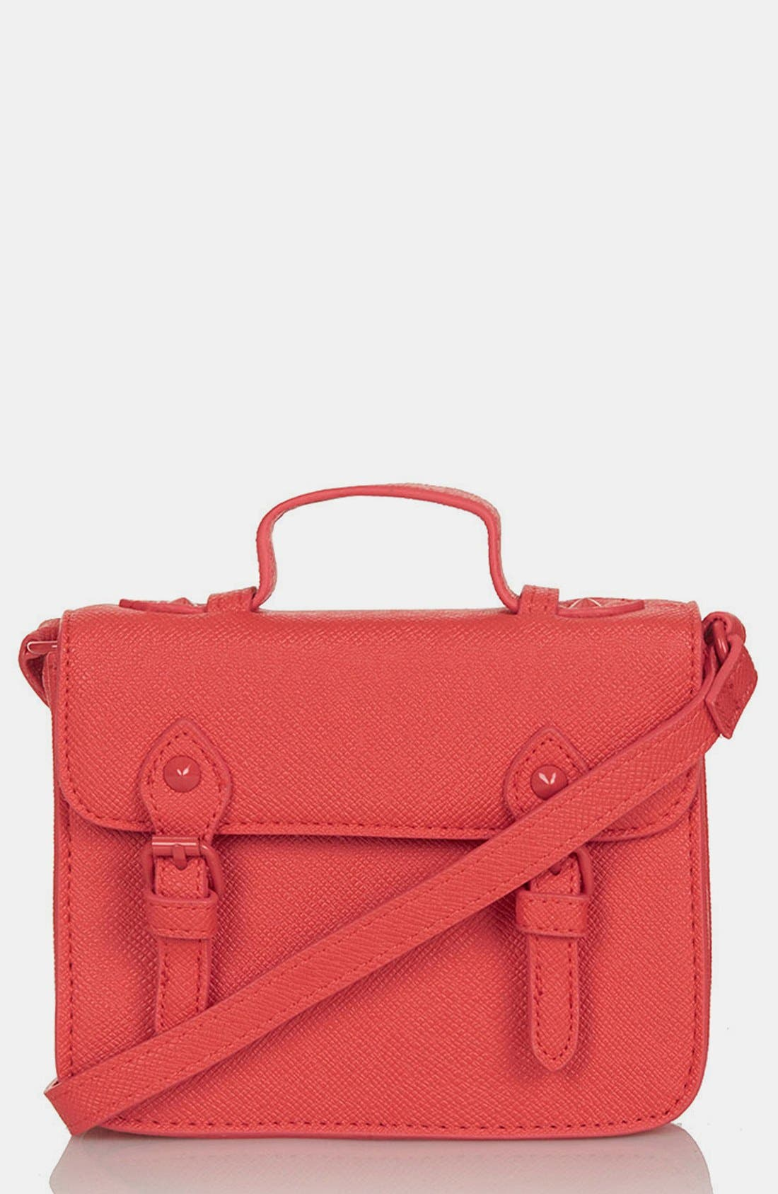 Main Image - Topshop Faux Leather Mini Satchel
