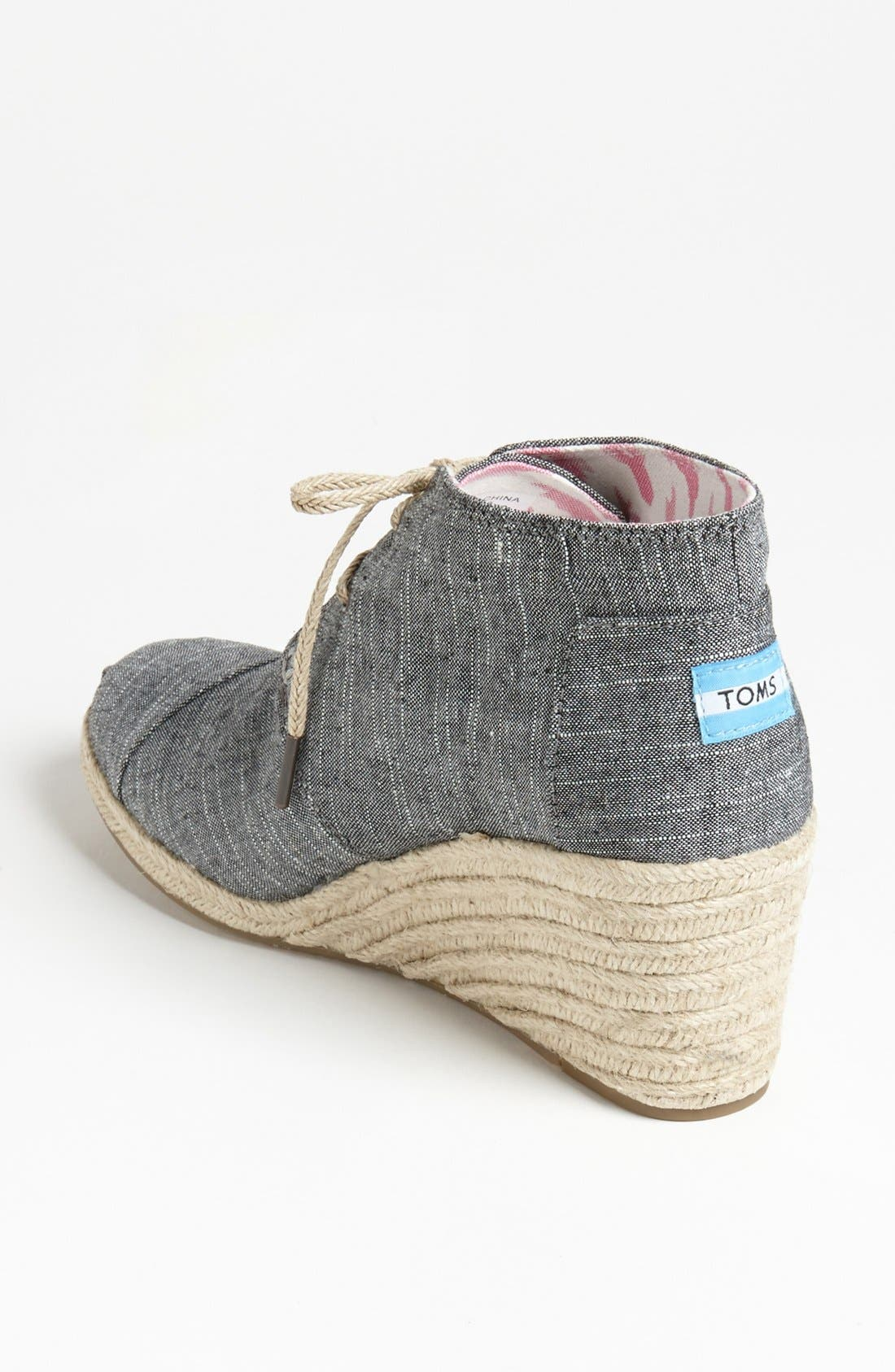 Alternate Image 2  - TOMS 'Desert' Chambray Wedge Bootie