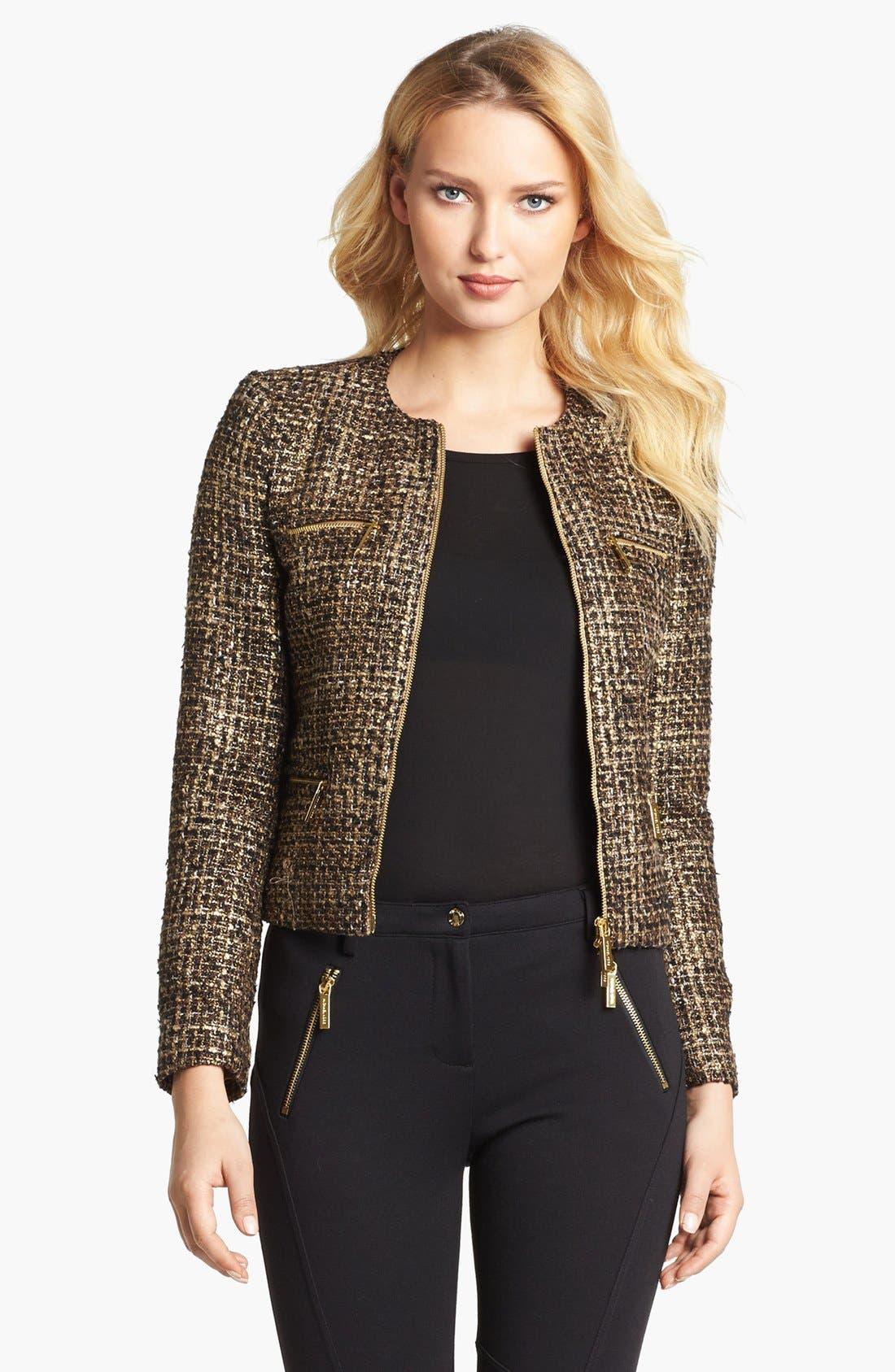 Main Image - MICHAEL Michael Kors Plaid Tweed Jacket