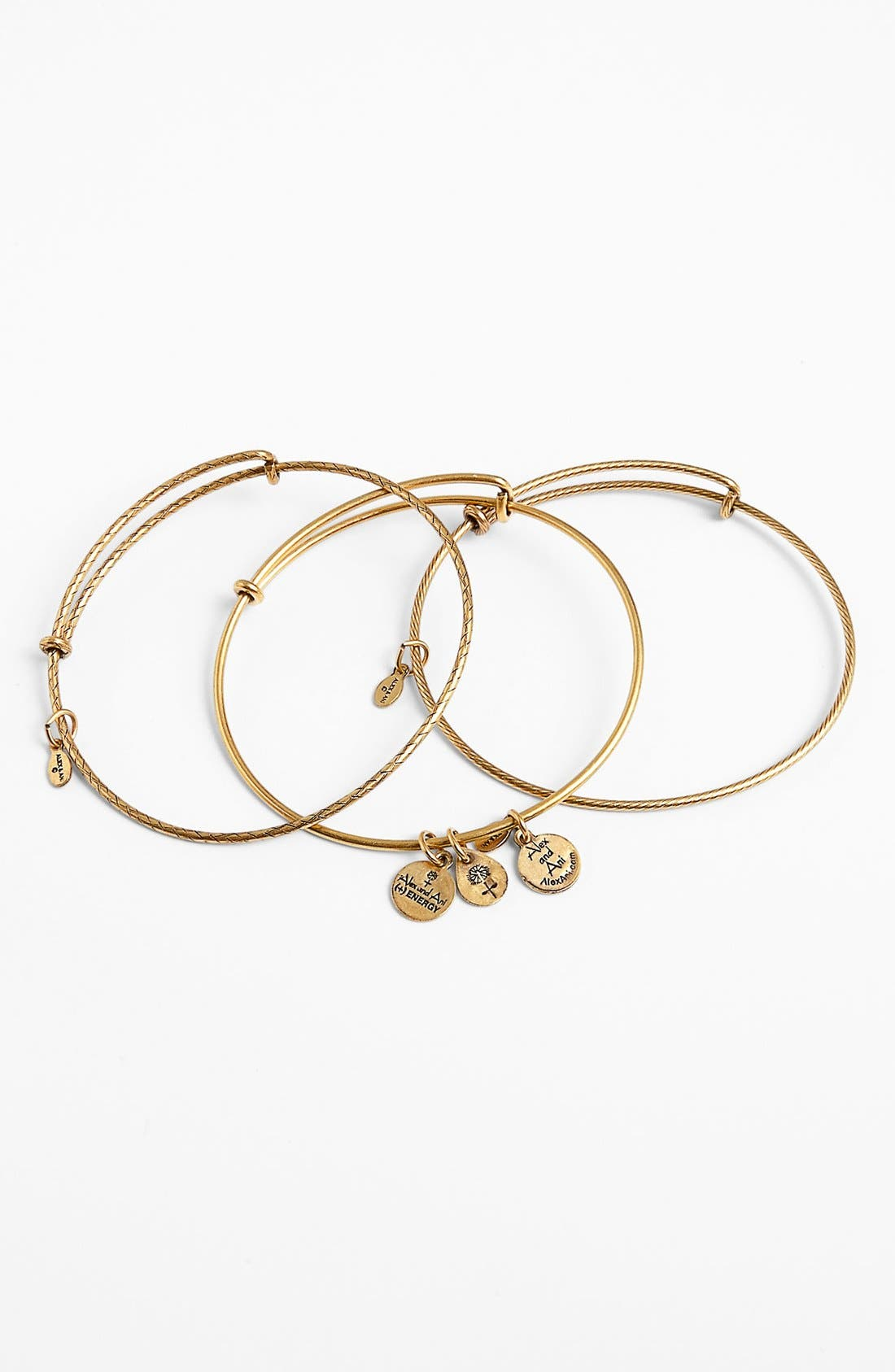 Main Image - Alex and Ani 'Energy' Adjustable Wire Bangles (Set of 3)