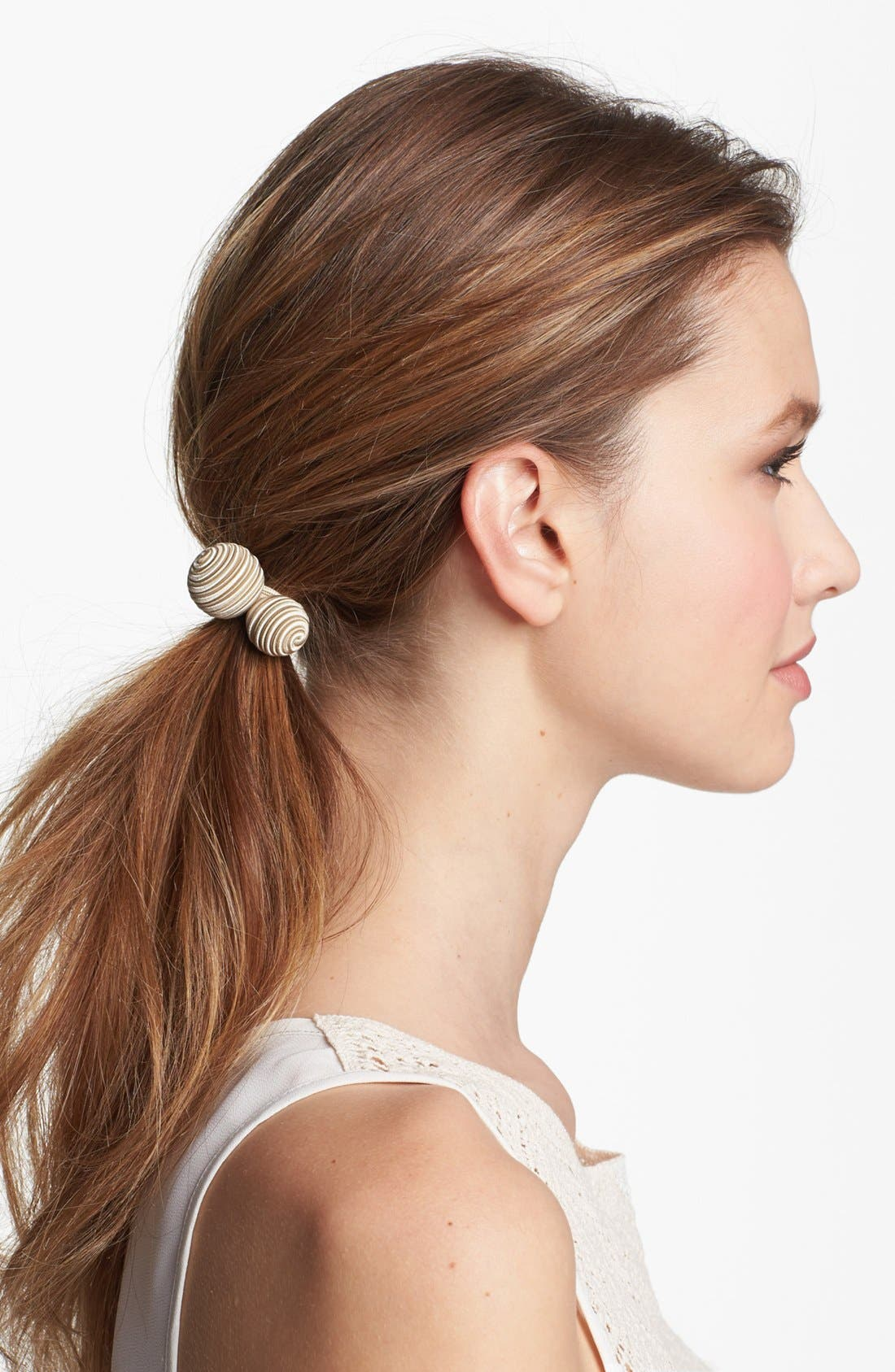 Alternate Image 1 Selected - L. Erickson 'Woven Bauble' Ponytail Holder