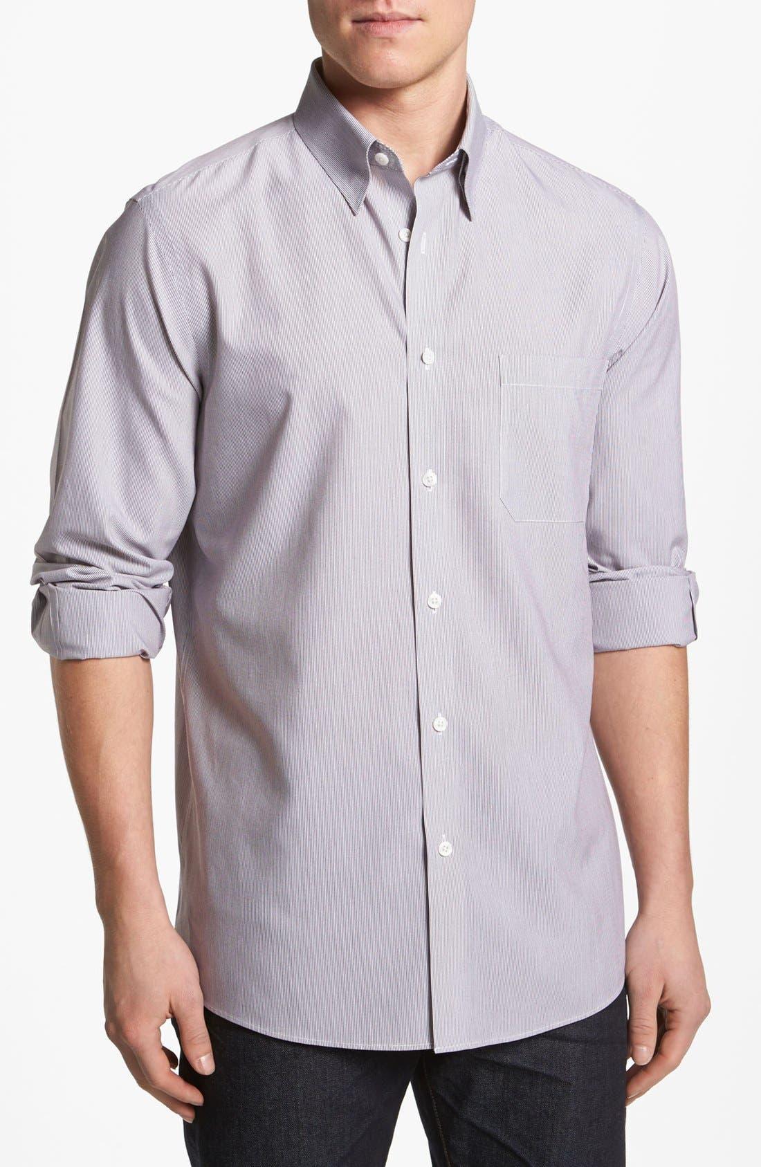 Alternate Image 1 Selected - Nordstrom Smartcare™ Striped Poplin Sport Shirt