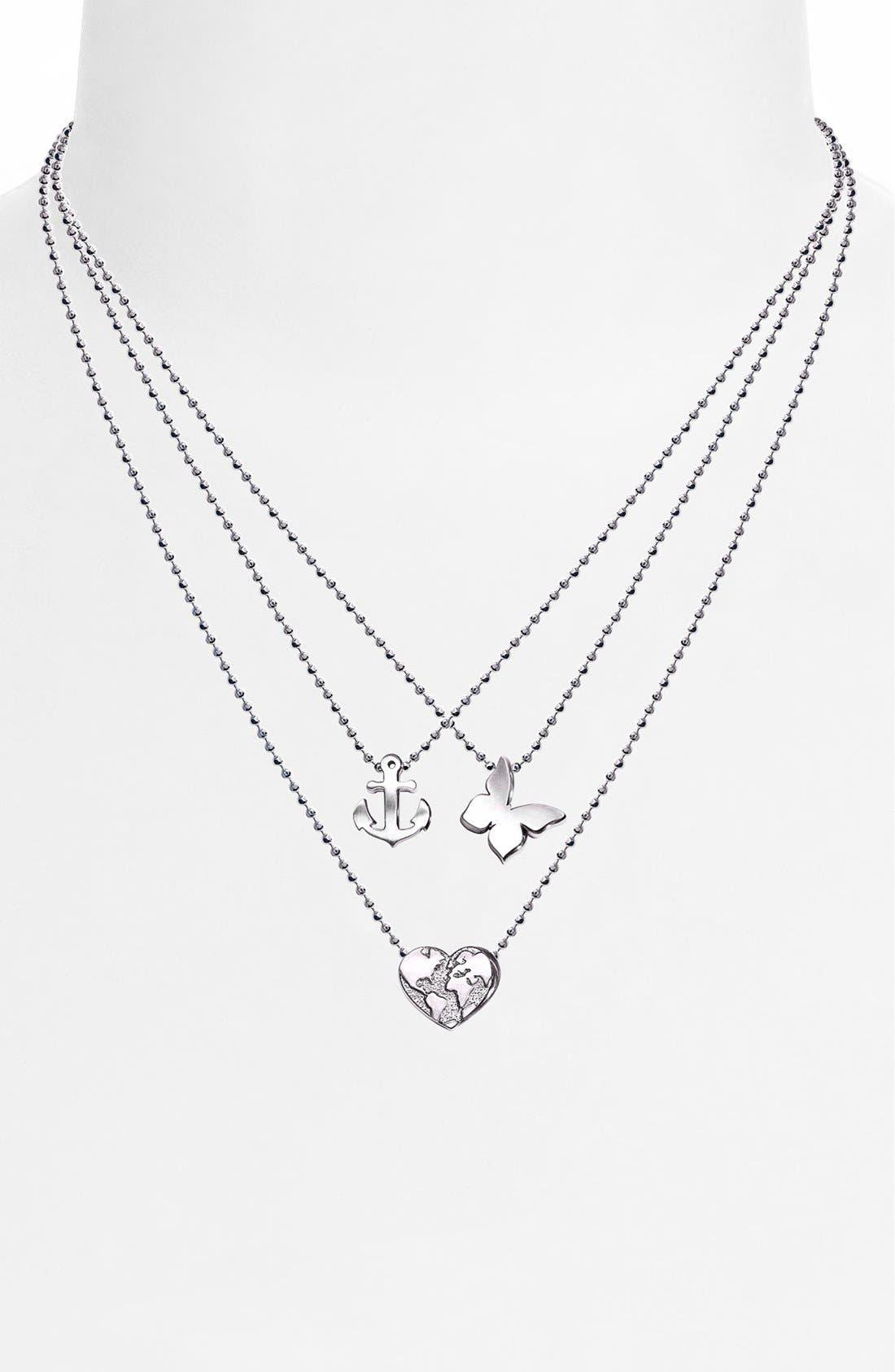 Alternate Image 2  - Alex Woo 'Little Seasons' Anchor Pendant Necklace