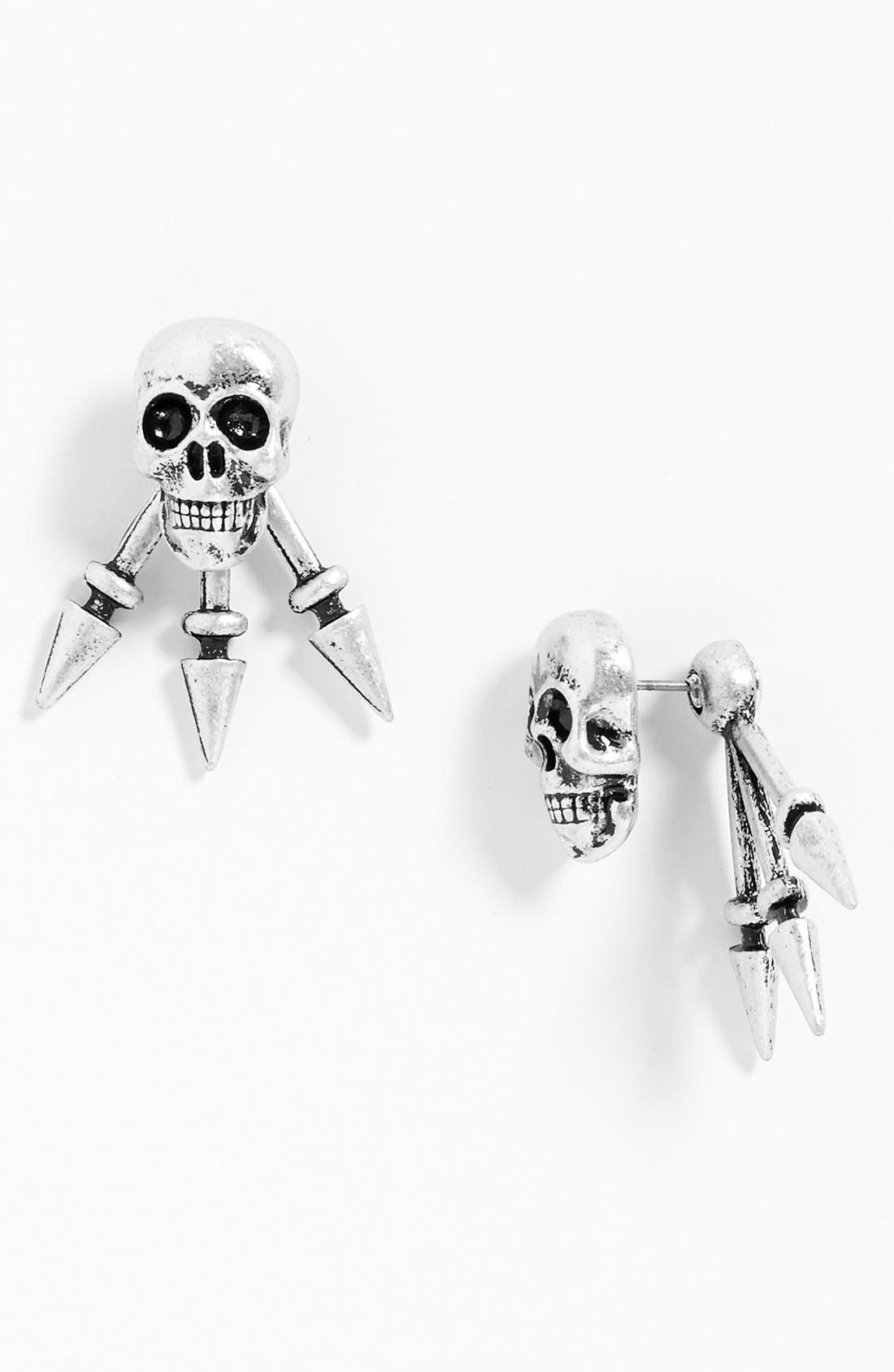 Main Image - Robert Rose 'Skull Spike' Post Earrings