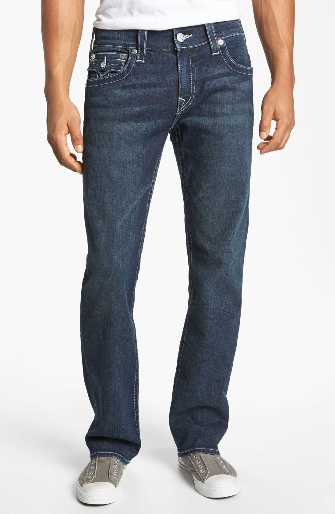 Alternate Image 2  - True Religion Brand Jeans 'Ricky' Stretch Relaxed Fit Jeans (Monte)