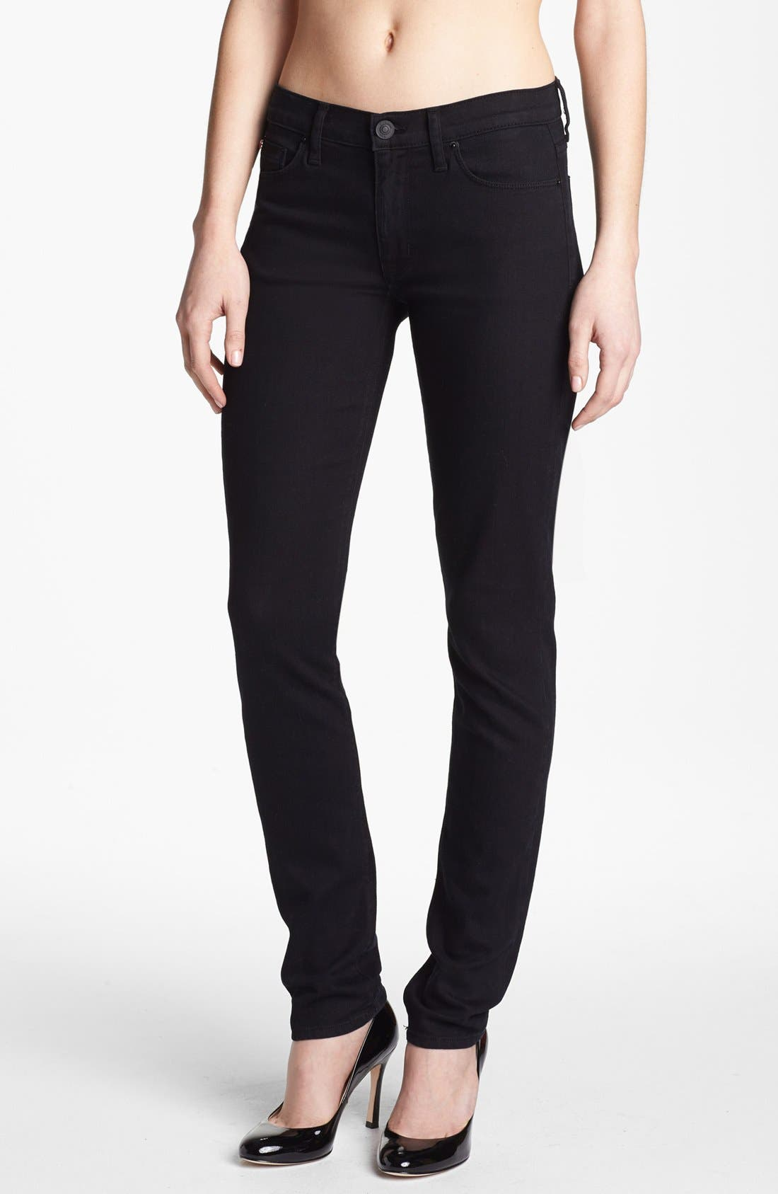 Alternate Image 1 Selected - Hudson Jeans 'Colette' Skinny Stretch Jeans (Black Indigo)