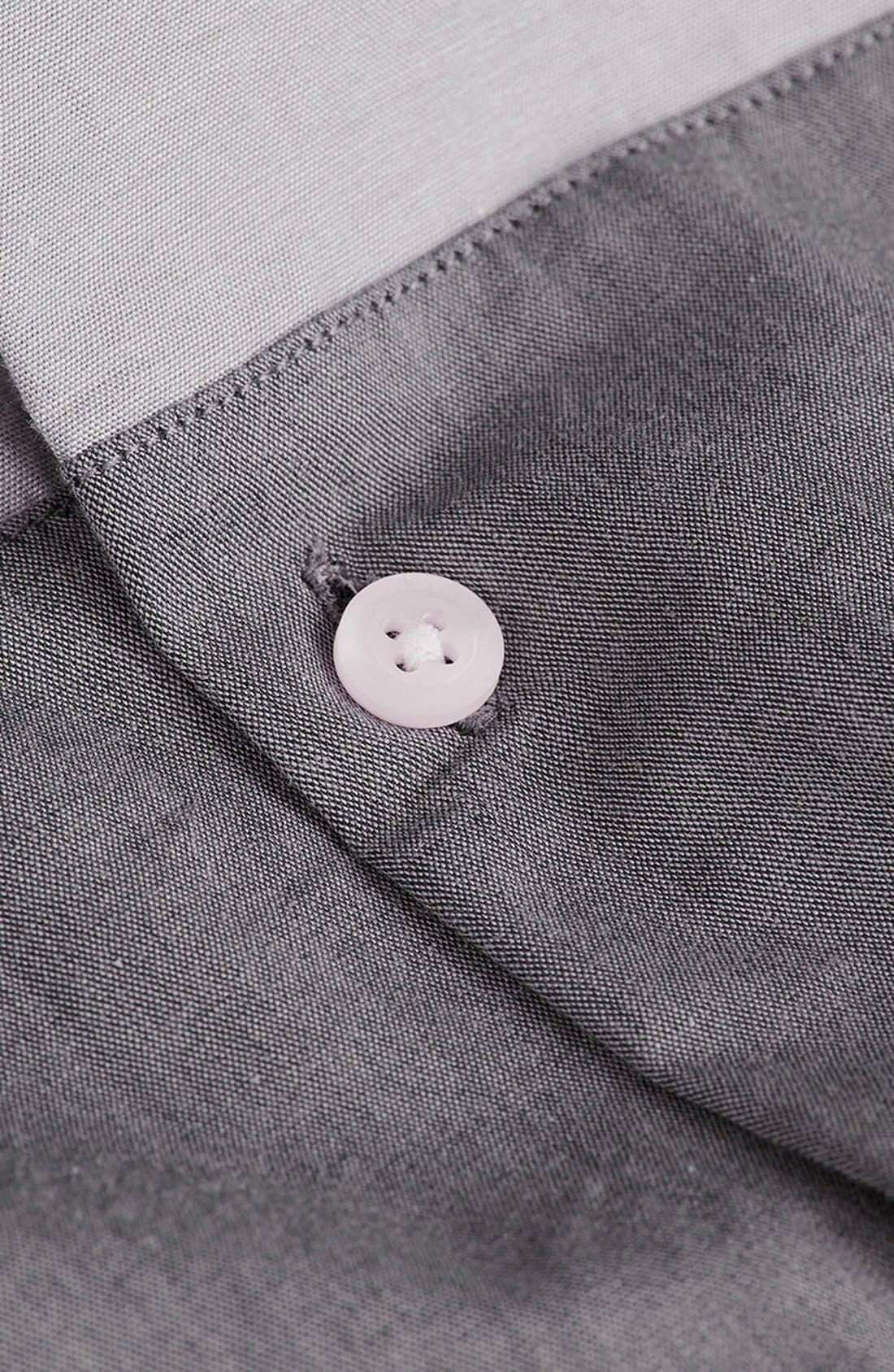 Alternate Image 3  - Topman Split Chambray Shirt