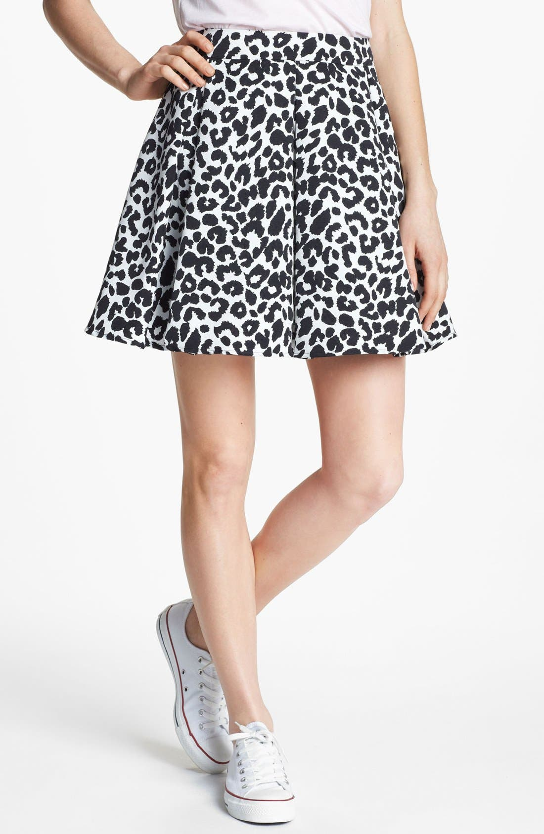 Alternate Image 1 Selected - Collective Concepts Pleated Skater Skirt
