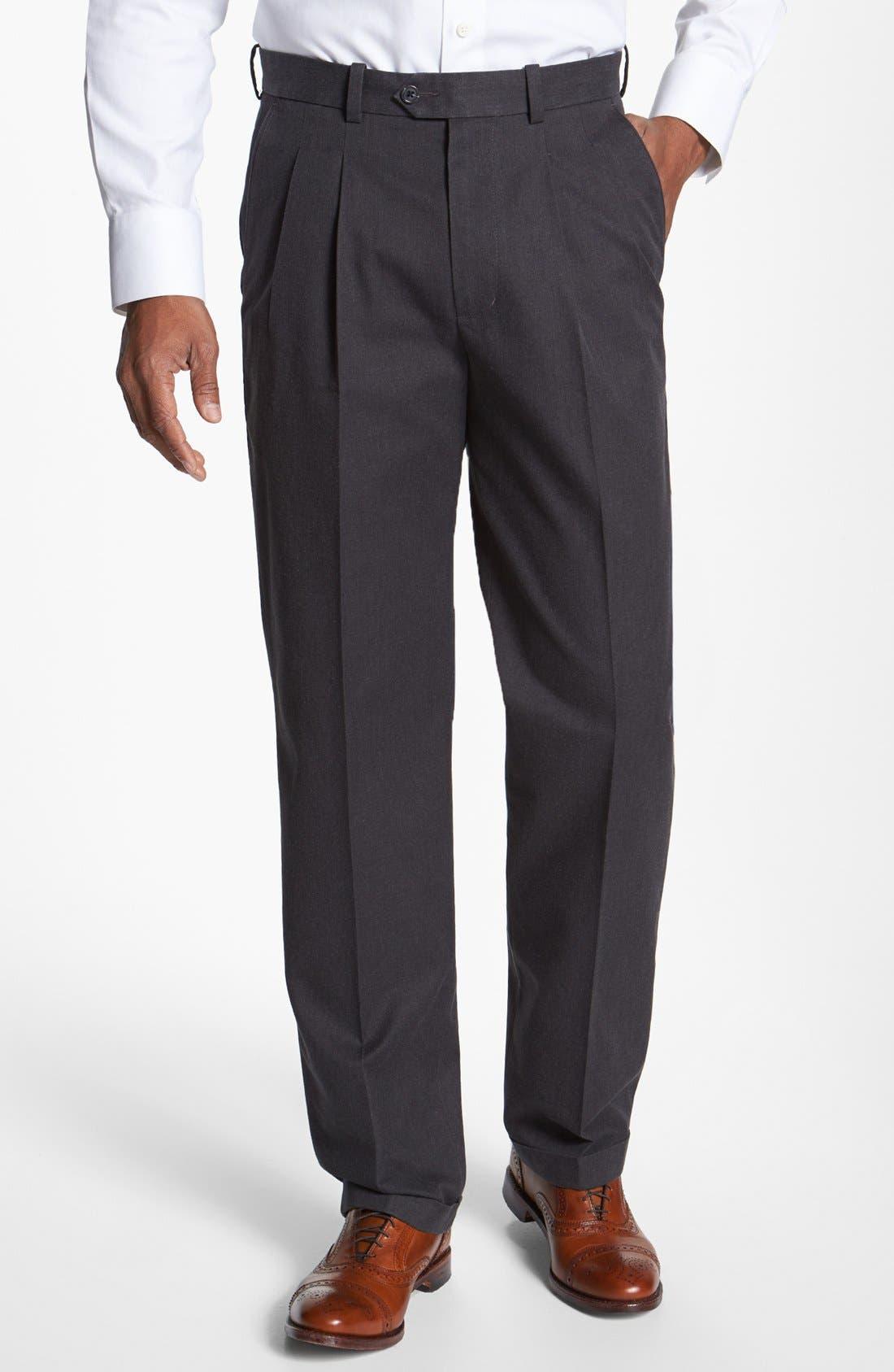 Alternate Image 1 Selected - John W. Nordstrom® Pleated Pants