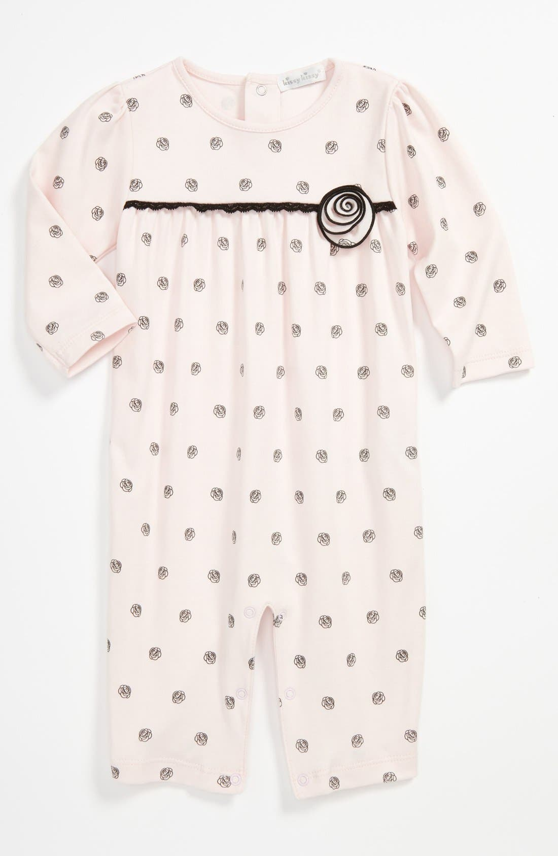 Alternate Image 1 Selected - Kissy Kissy Print Coveralls (Baby)