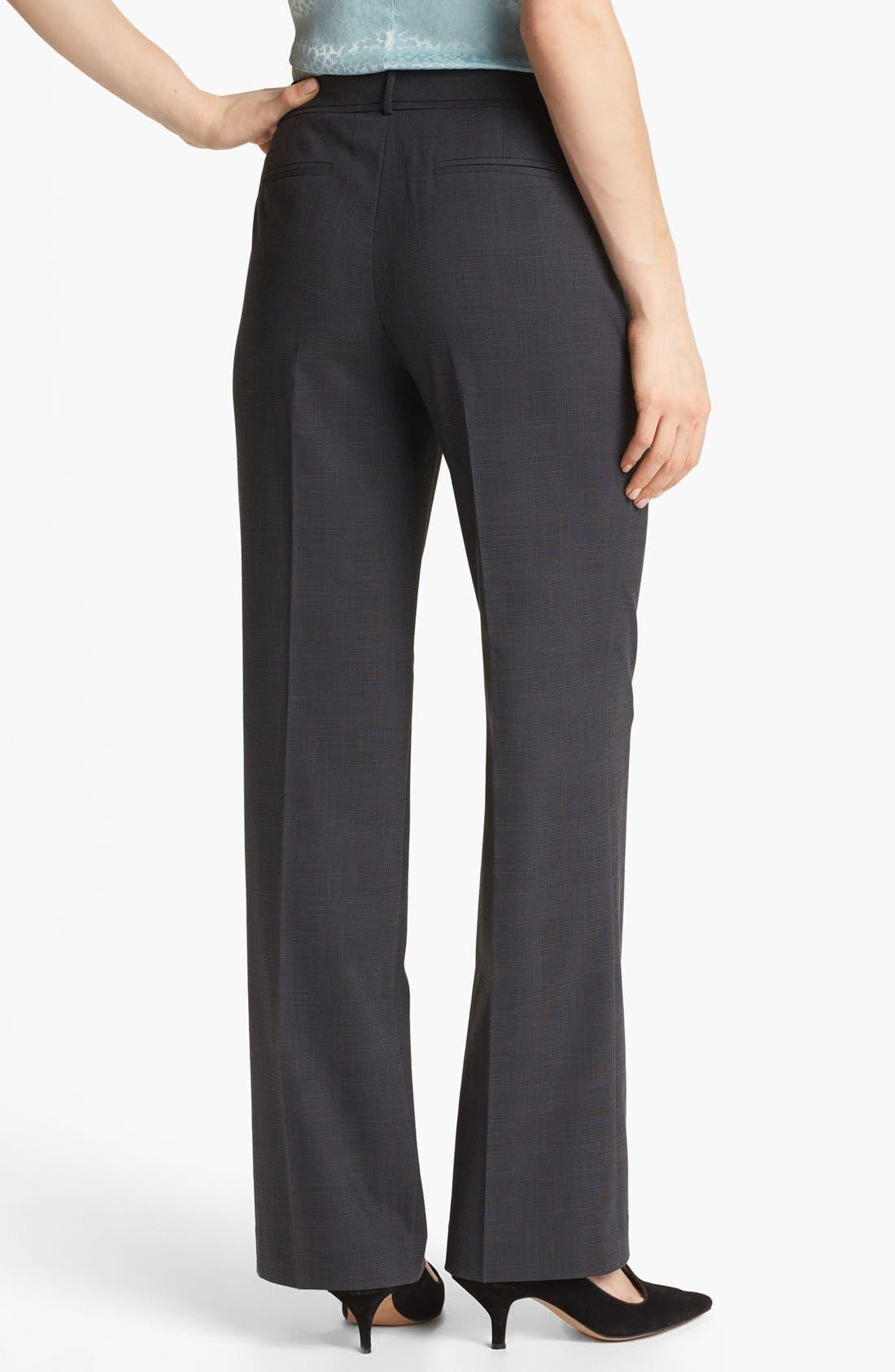 Alternate Image 2  - Halogen® 'Taylor' Etched Plaid Pants