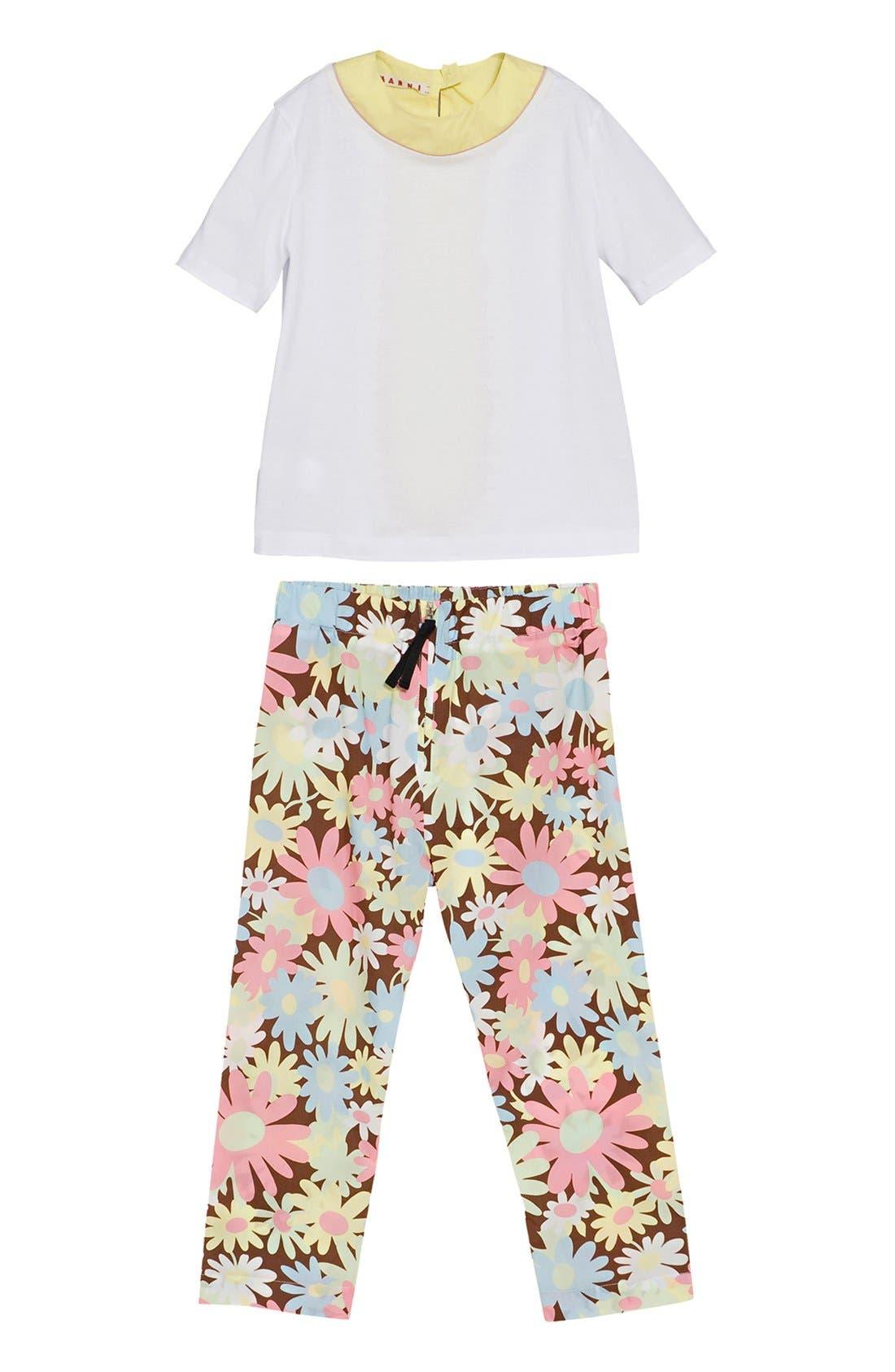 Alternate Image 1 Selected - Marni Blouse & Trousers (Little Girls & Big Girls)