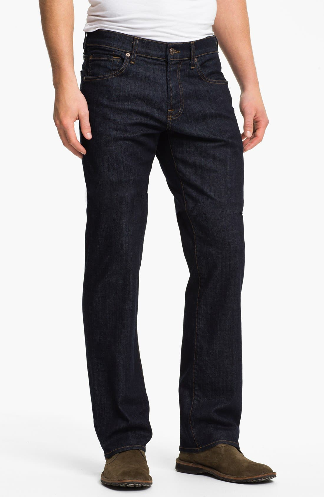 Alternate Image 1  - 7 For All Mankind® 'Austyn' Relaxed Straight Leg Jeans (Dark Clean)