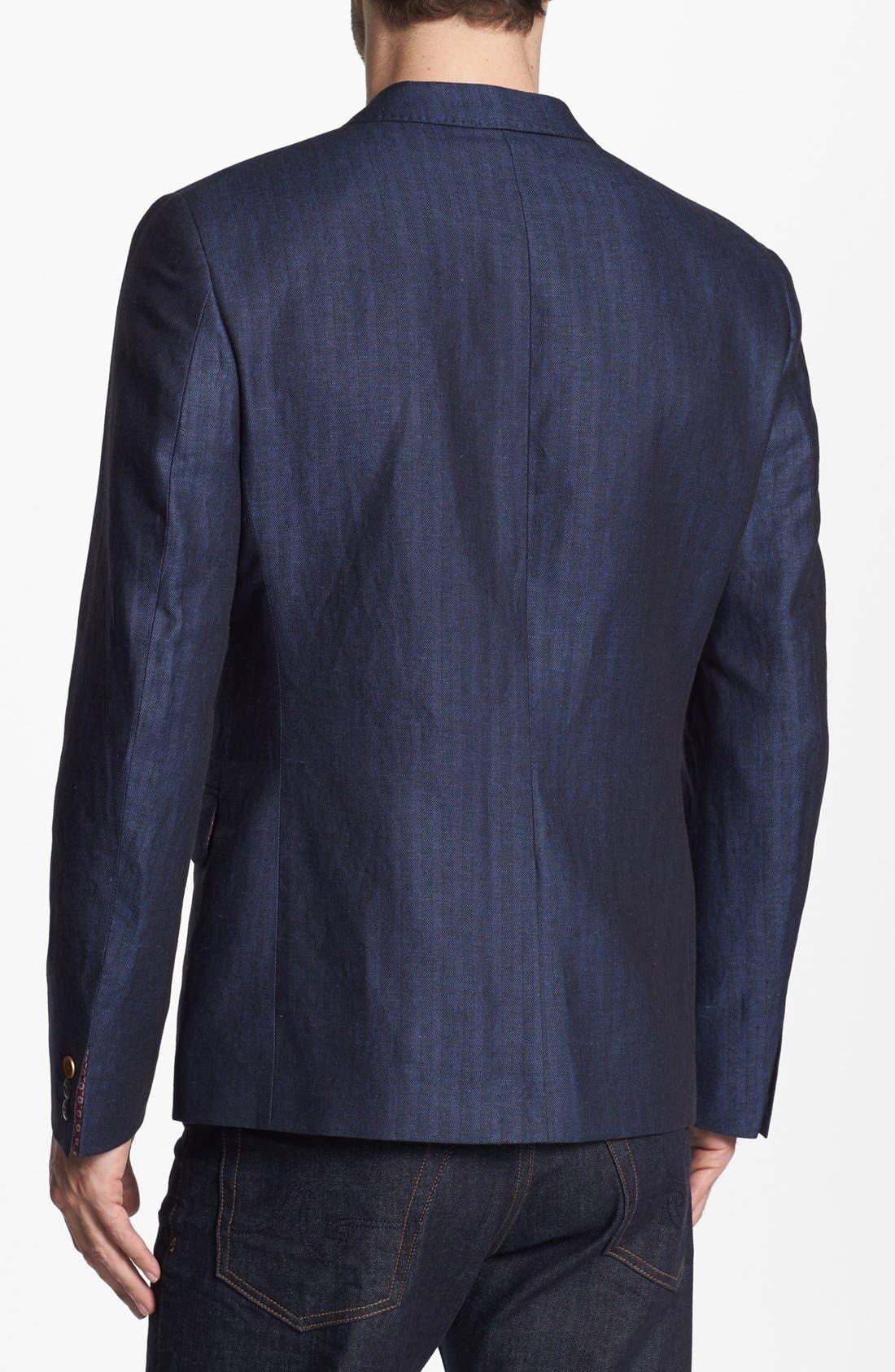 Alternate Image 2  - Ted Baker London Linen Blend Blazer