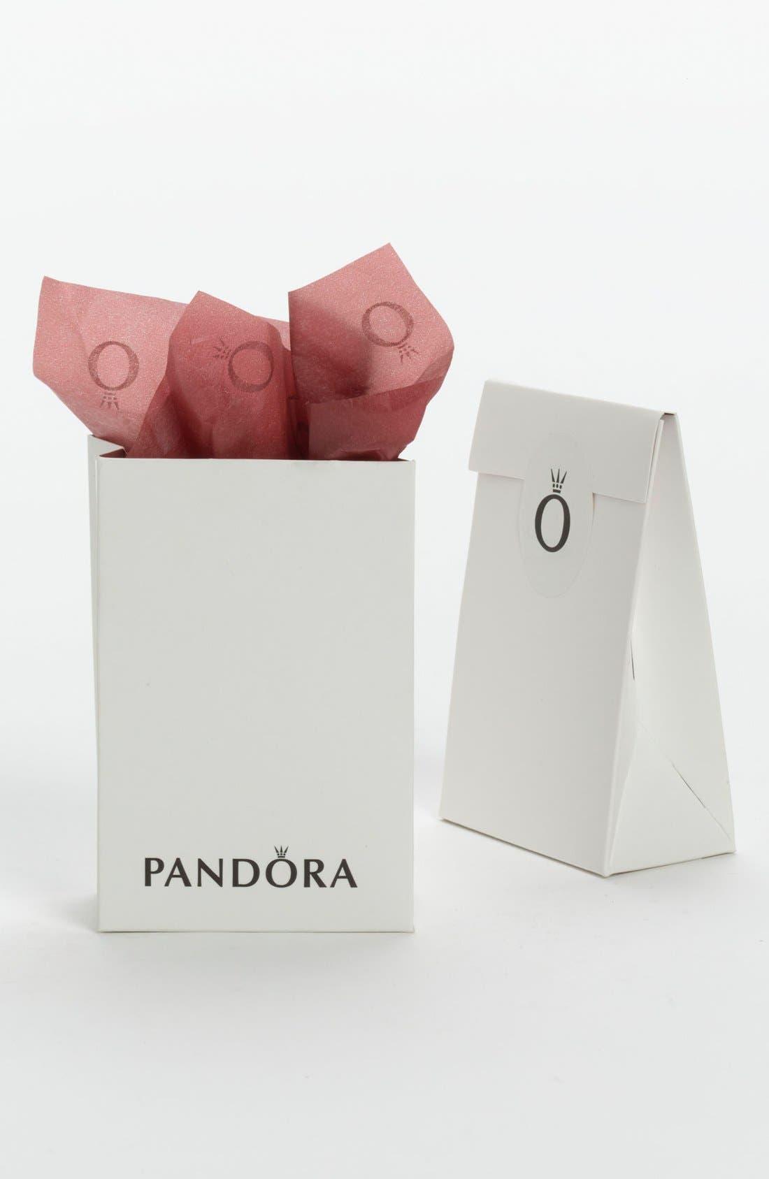 Alternate Image 2  - PANDORA 'Pink Ribbon of Hope' Murano Glass Charm