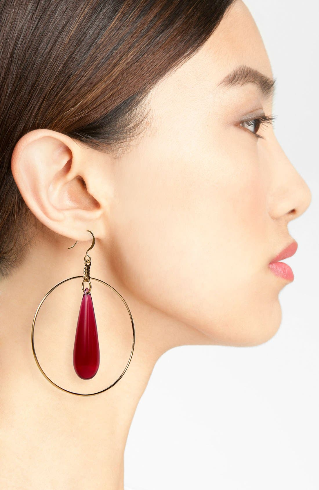 Alternate Image 2  - Verdier Jewelry 'Vintage Lucite®' Hoop Earrings