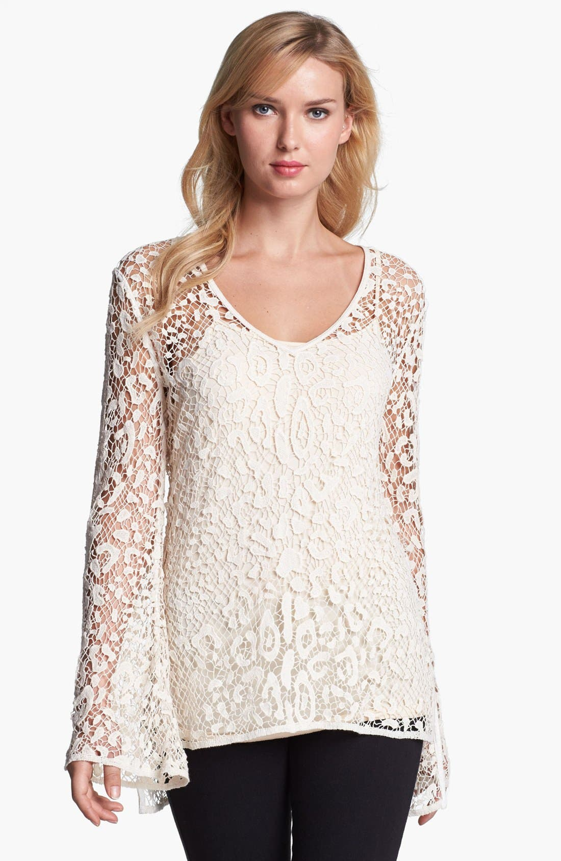 Alternate Image 1 Selected - Alberto Makali Lace Tunic with Camisole