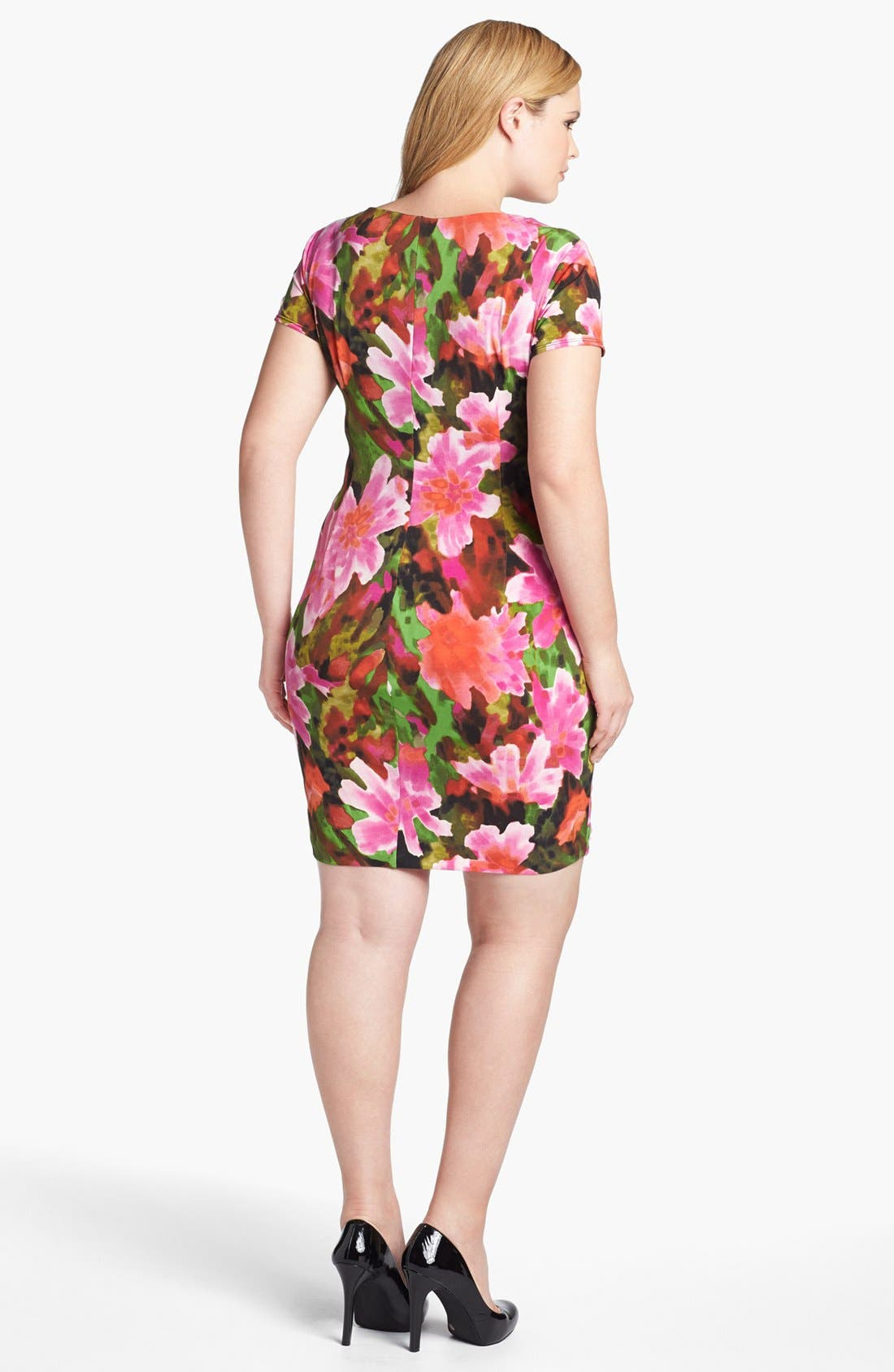 Alternate Image 2  - London Times 'Starburst' Print Sheath Dress (Plus Size)