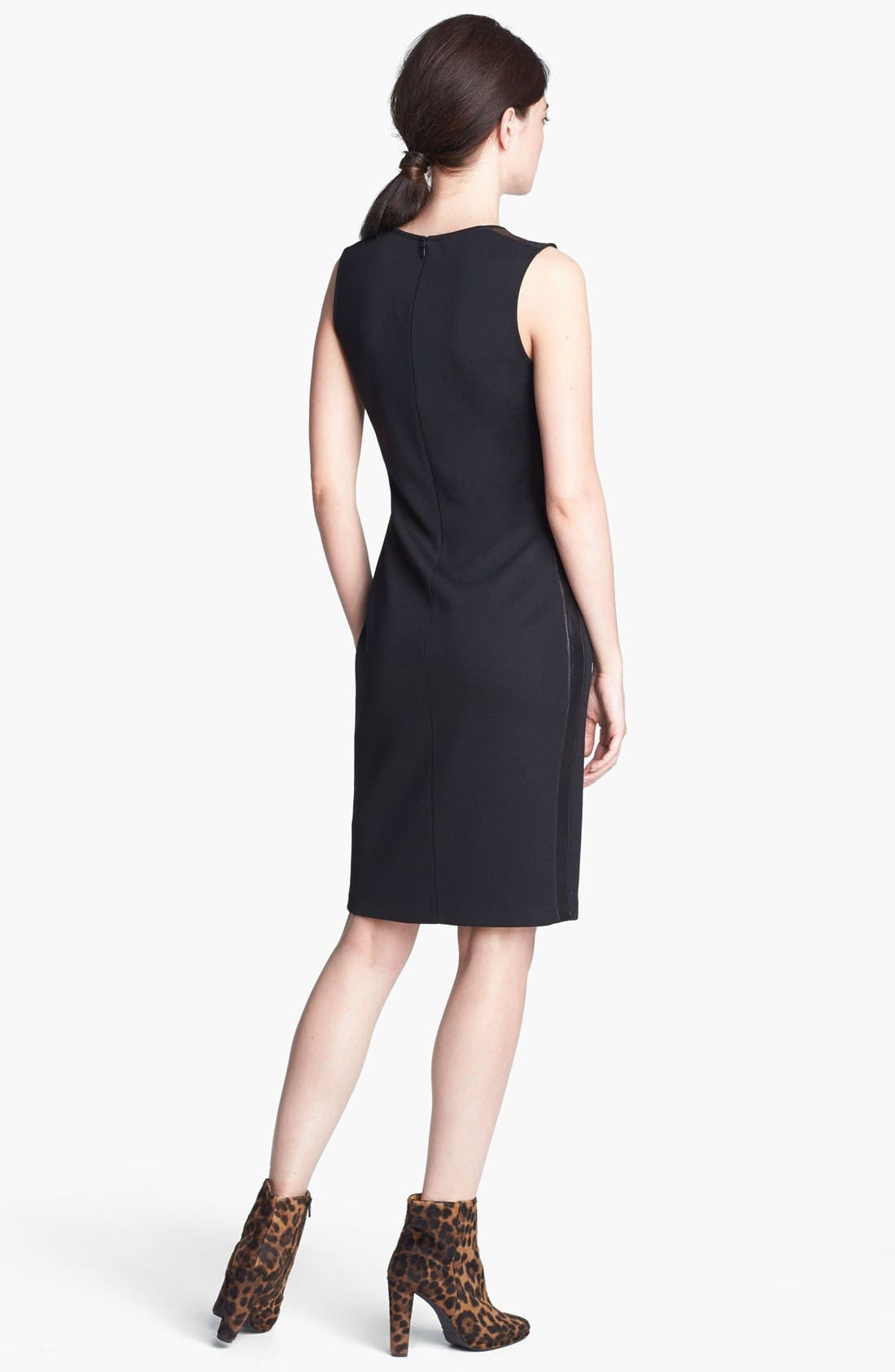Alternate Image 2  - St. John Collection Leather Trim Milano Knit Dress
