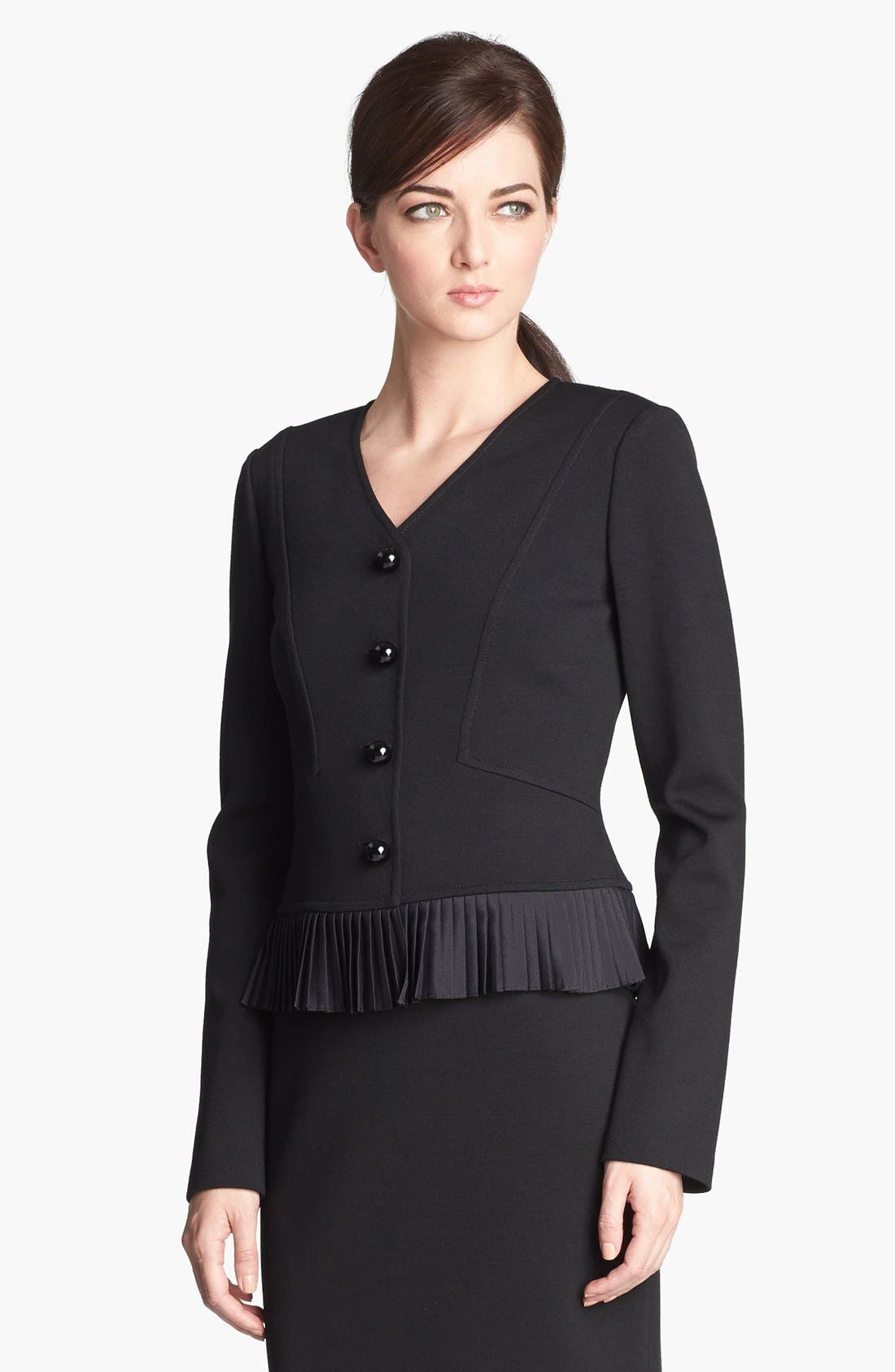 Main Image - St. John Collection Fitted Milano Knit Jacket