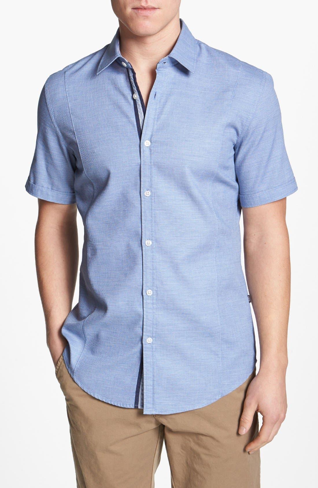 Alternate Image 1 Selected - BOSS HUGO BOSS 'Marco' Slim Fit Short Sleeve Sport Shirt