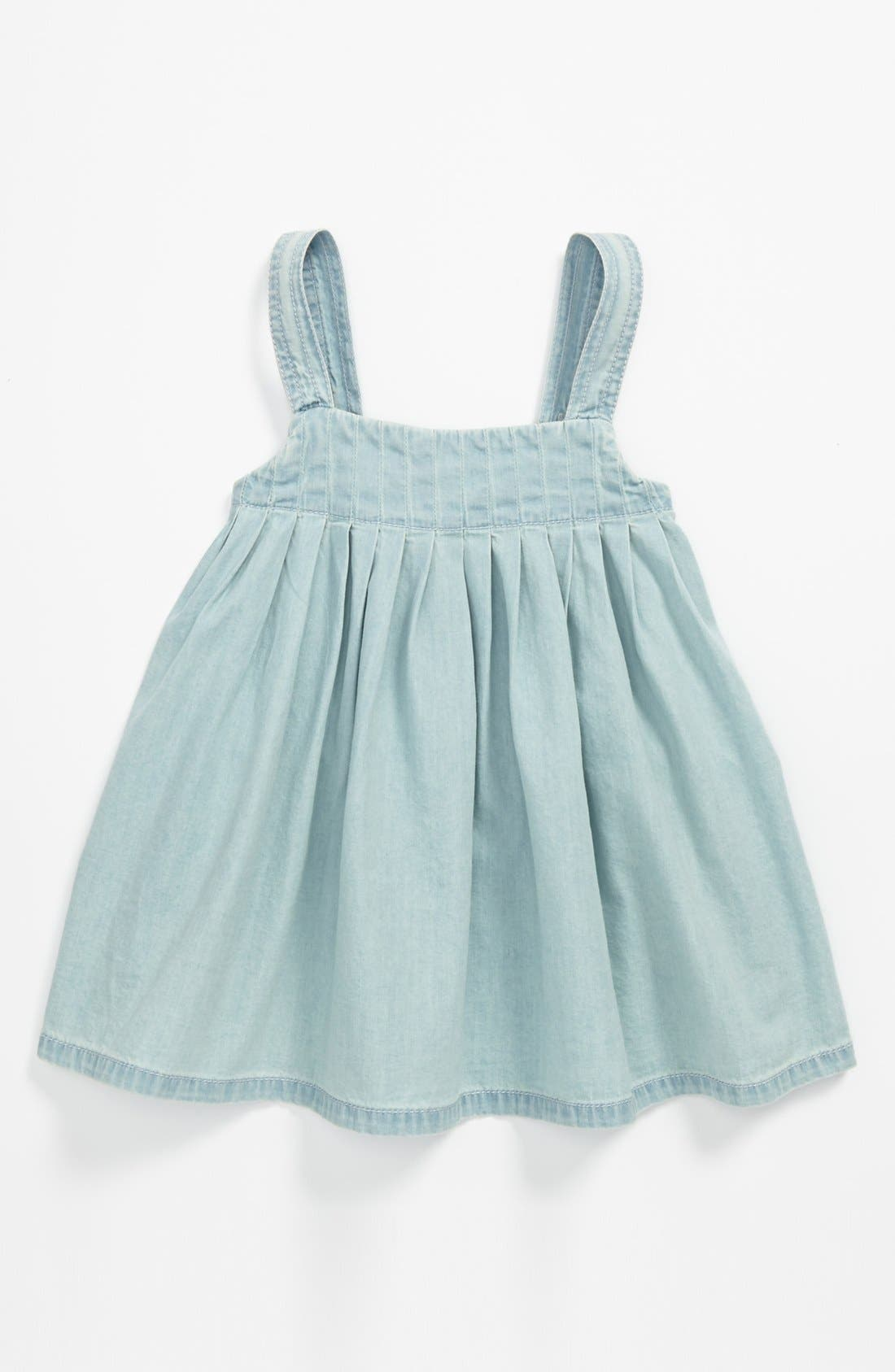 Main Image - Tucker + Tate 'Carlie' Pleated Denim Tank Top (Toddler)