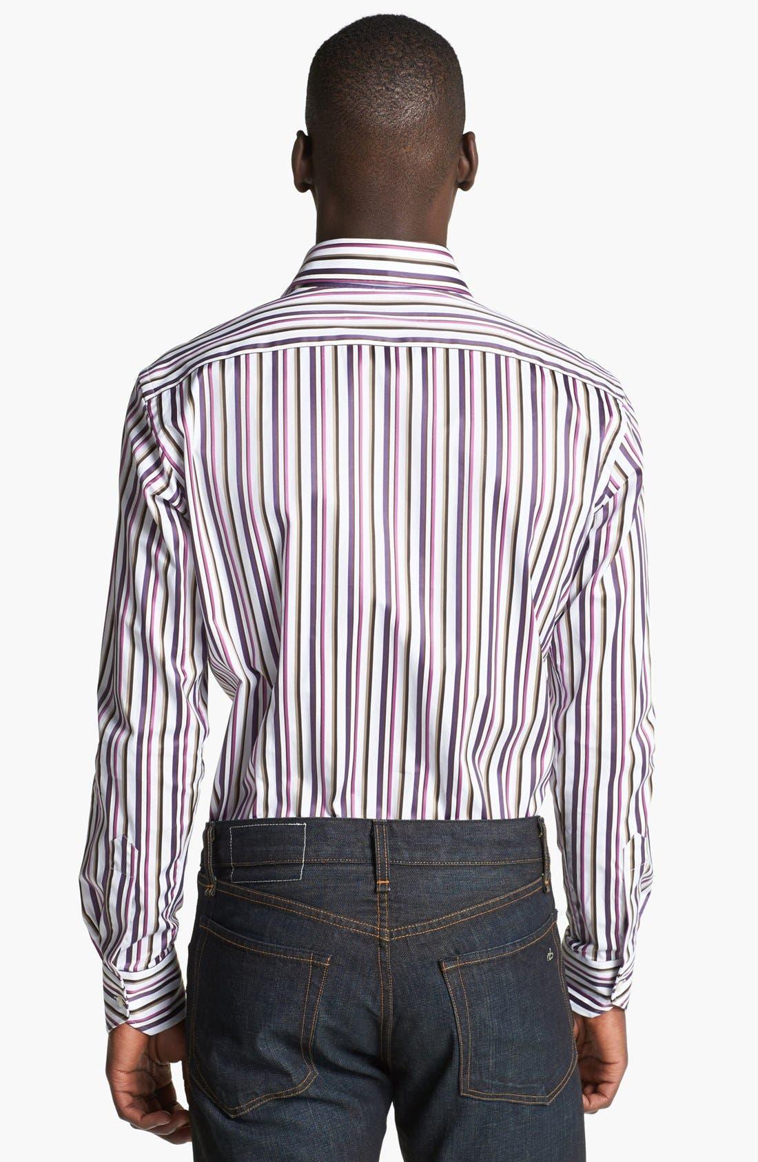 Alternate Image 2  - Etro Stripe Print Cotton Shirt