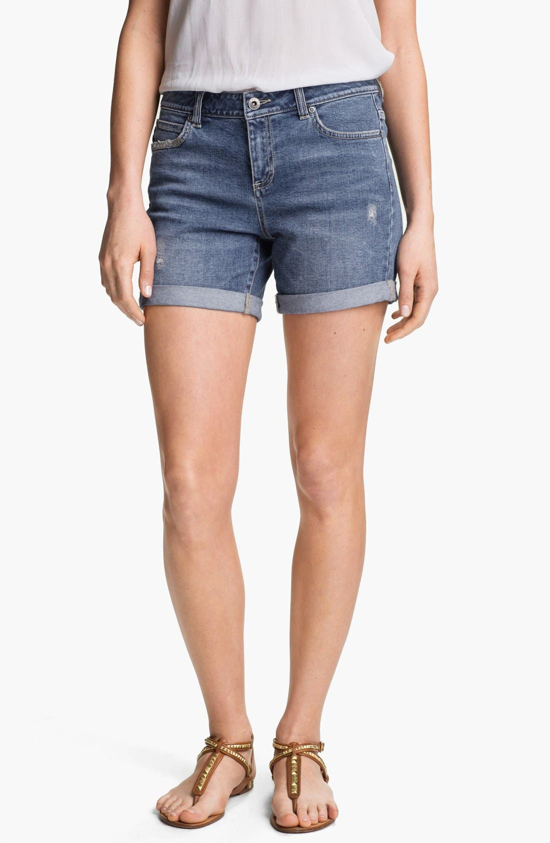 Alternate Image 1 Selected - Two by Vince Camuto Distressed Denim Shorts