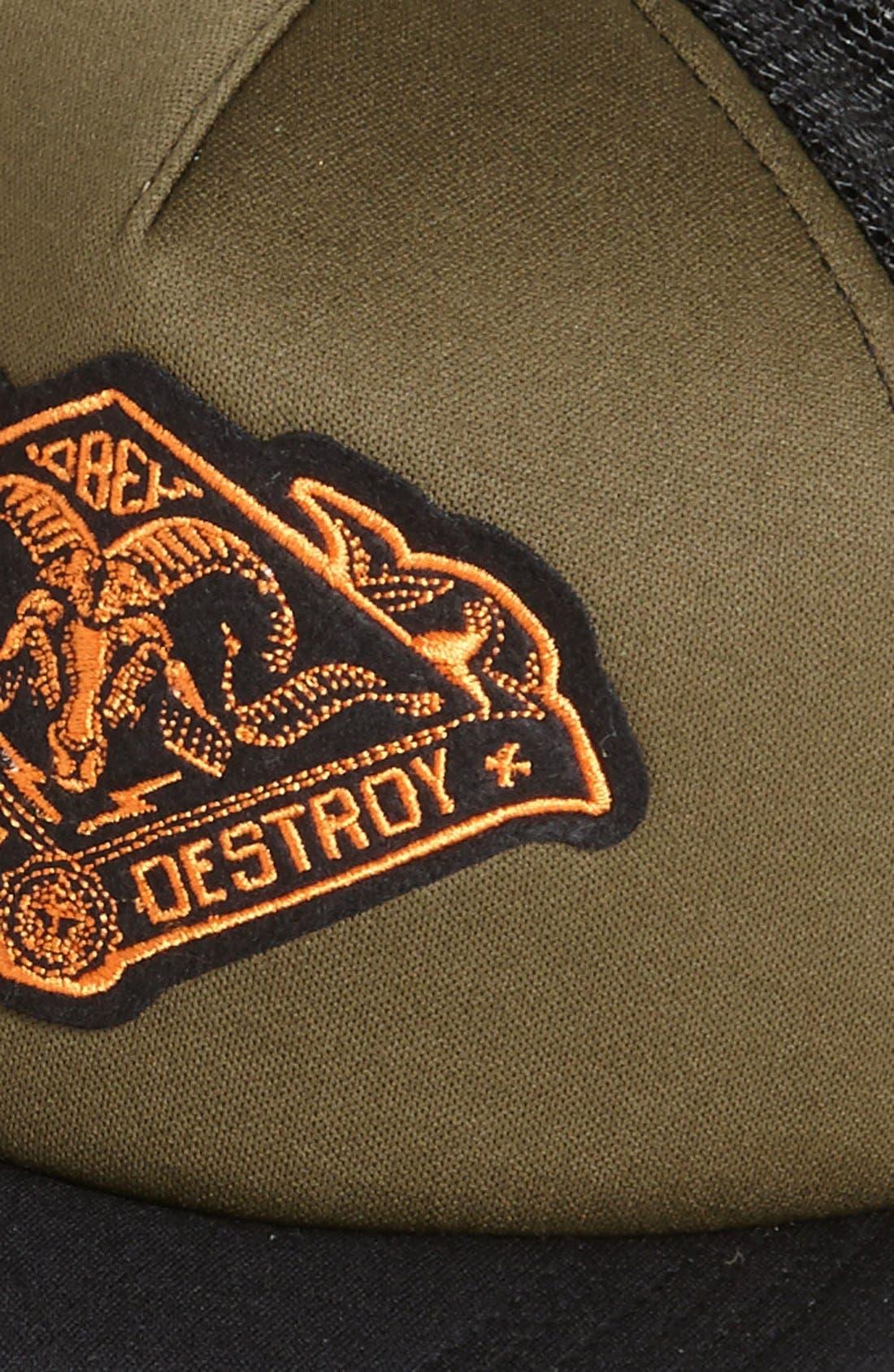 Alternate Image 2  - Obey 'Search & Destroy' Trucker Hat