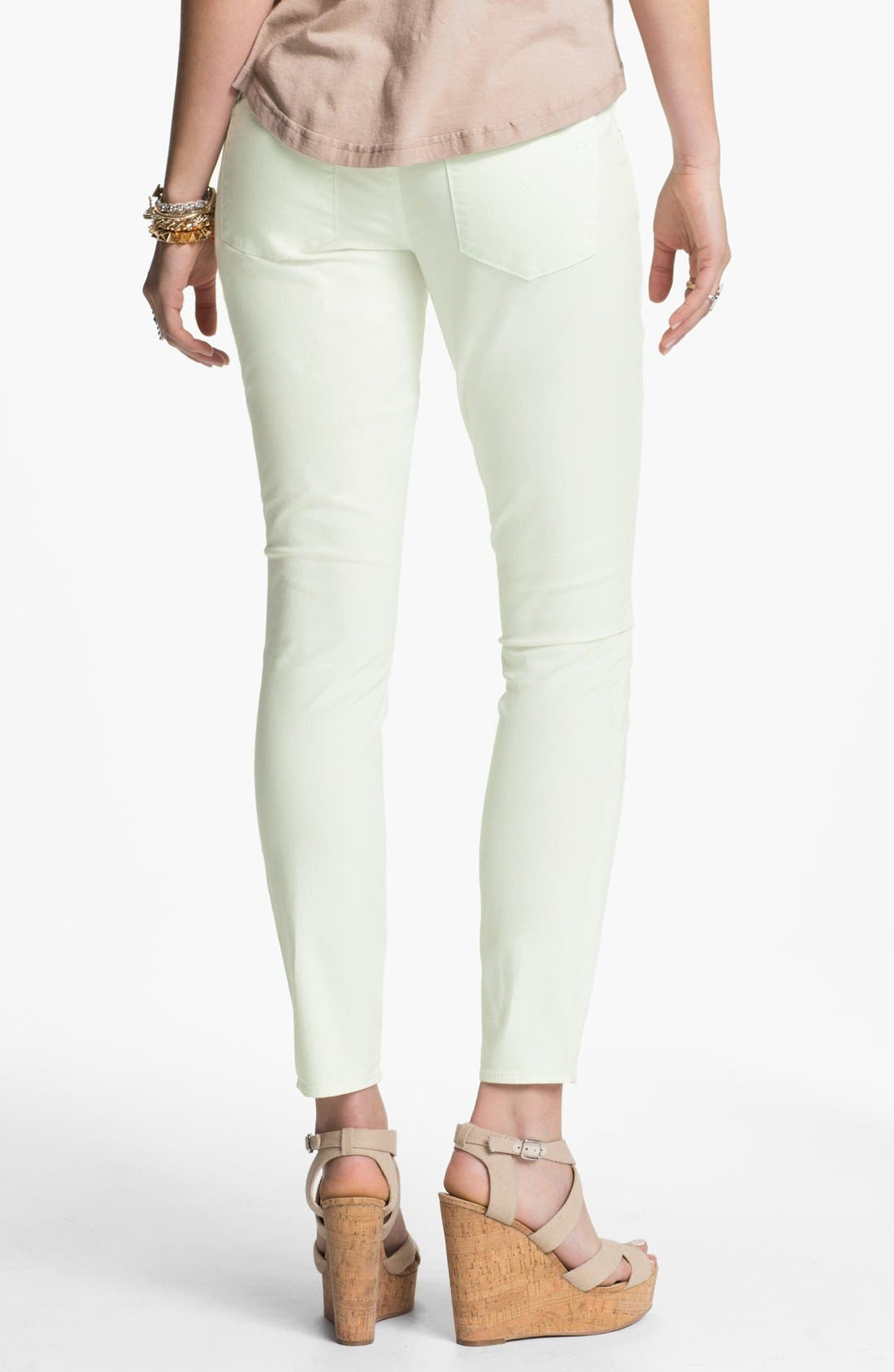 Main Image - Articles of Society 'Olivia' Skinny Pants (Mint) (Juniors) (Online Only)