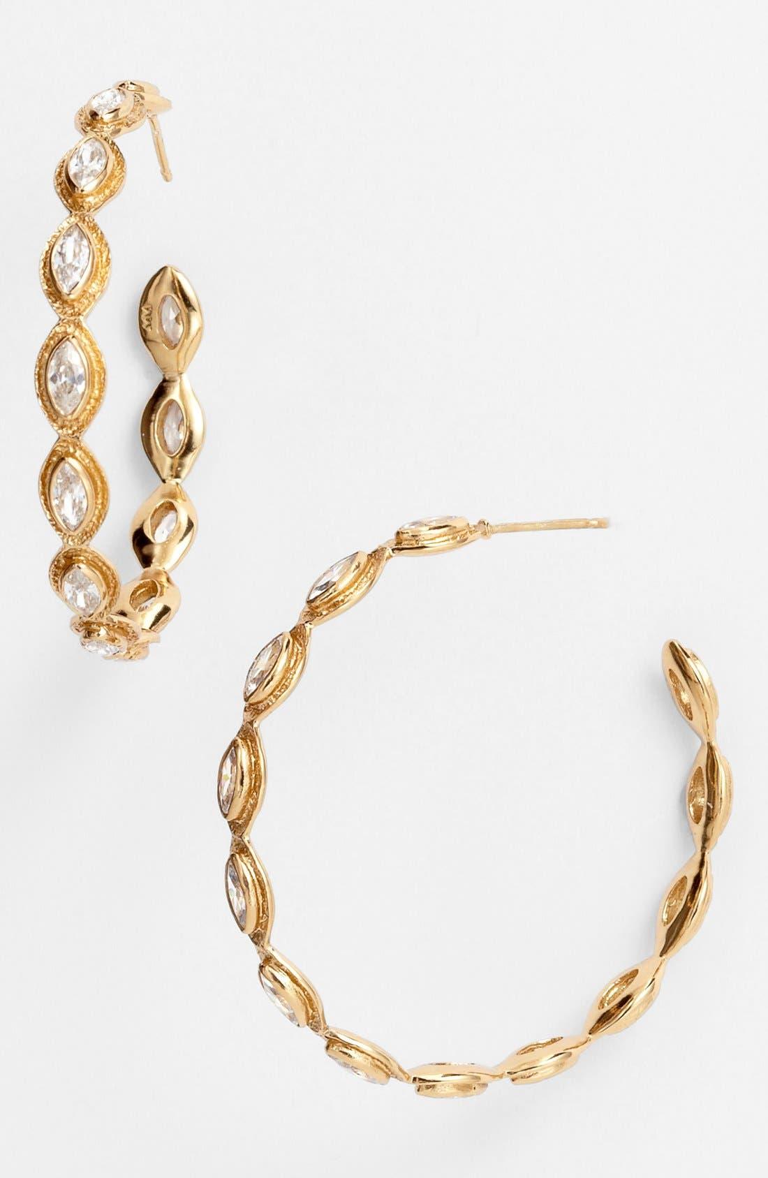 Main Image - Melinda Maria 'Gwyneth' Medium Hoop Earrings (Nordstrom Exclusive)