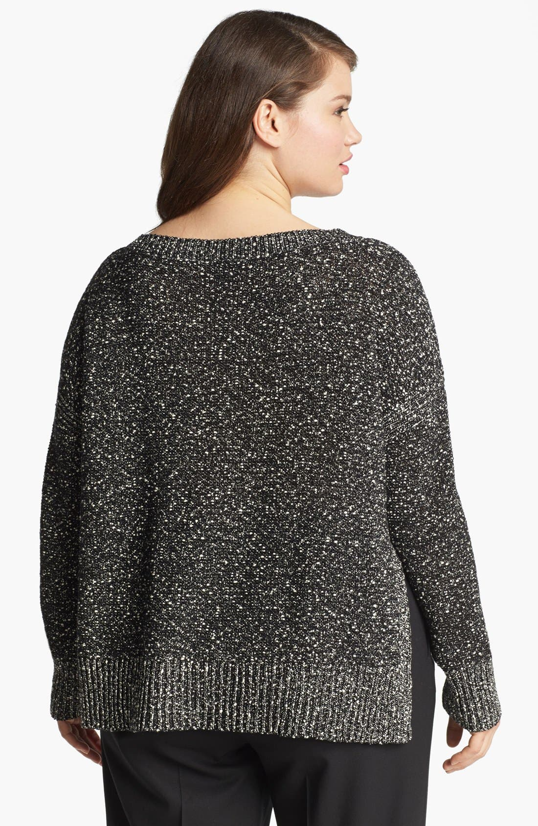 Alternate Image 2  - Eileen Fisher Nubble High/Low Sweater (Plus Size)