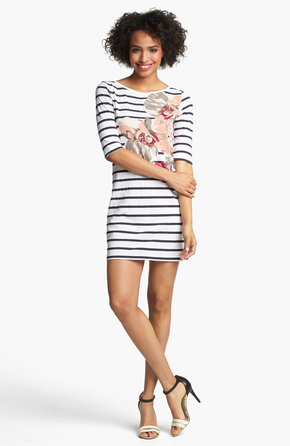 Main Image - French Connection 'Pixie' Graphic Stripe Cotton Dress