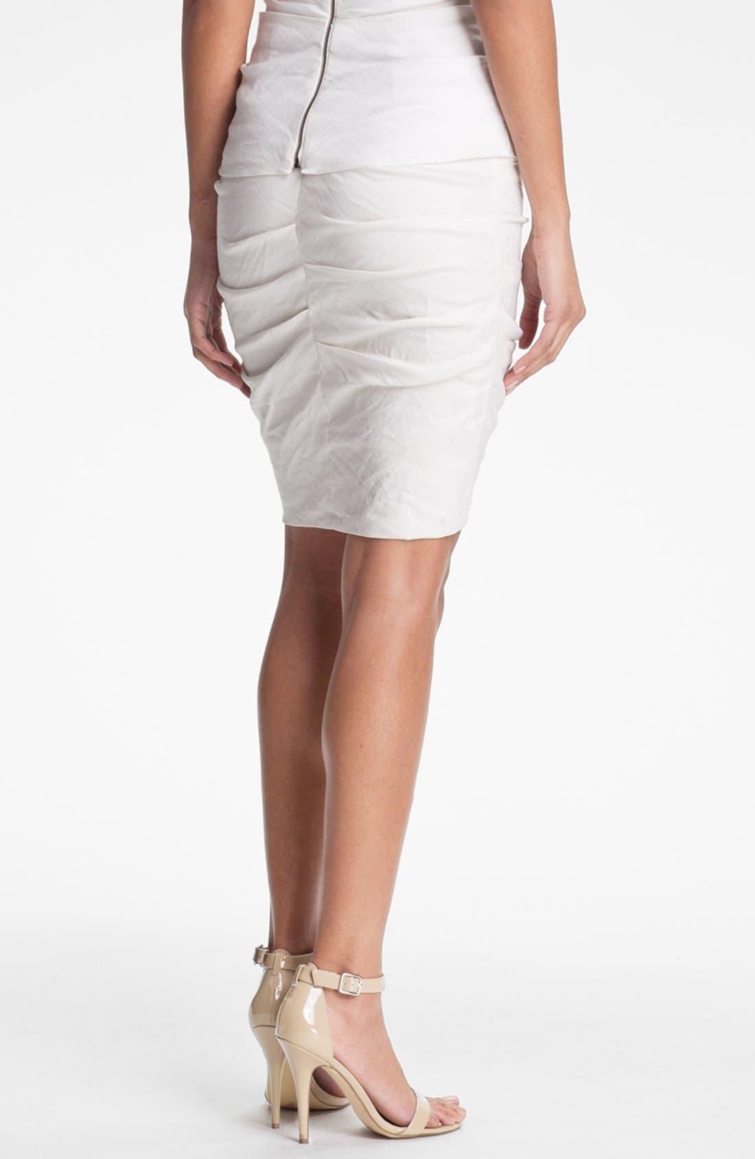 Alternate Image 2  - Nicole Miller Shimmer Pencil Skirt