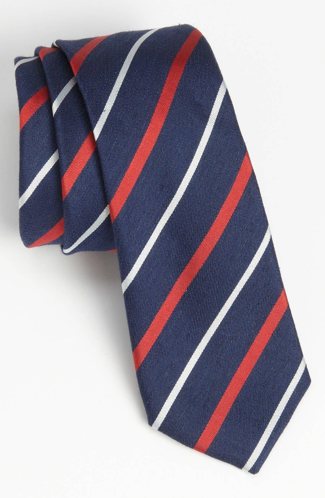 Main Image - BOSS HUGO BOSS Woven Linen & Silk Tie