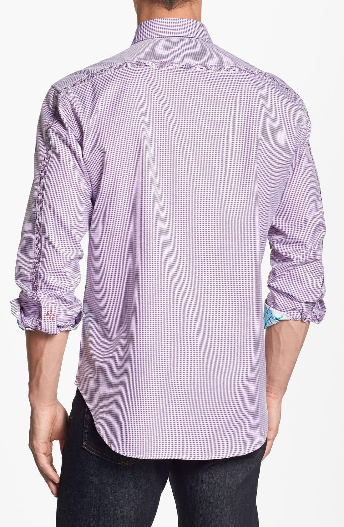 Alternate Image 2  - Robert Graham 'Toulouse' Regular Fit Sport Shirt (Tall)