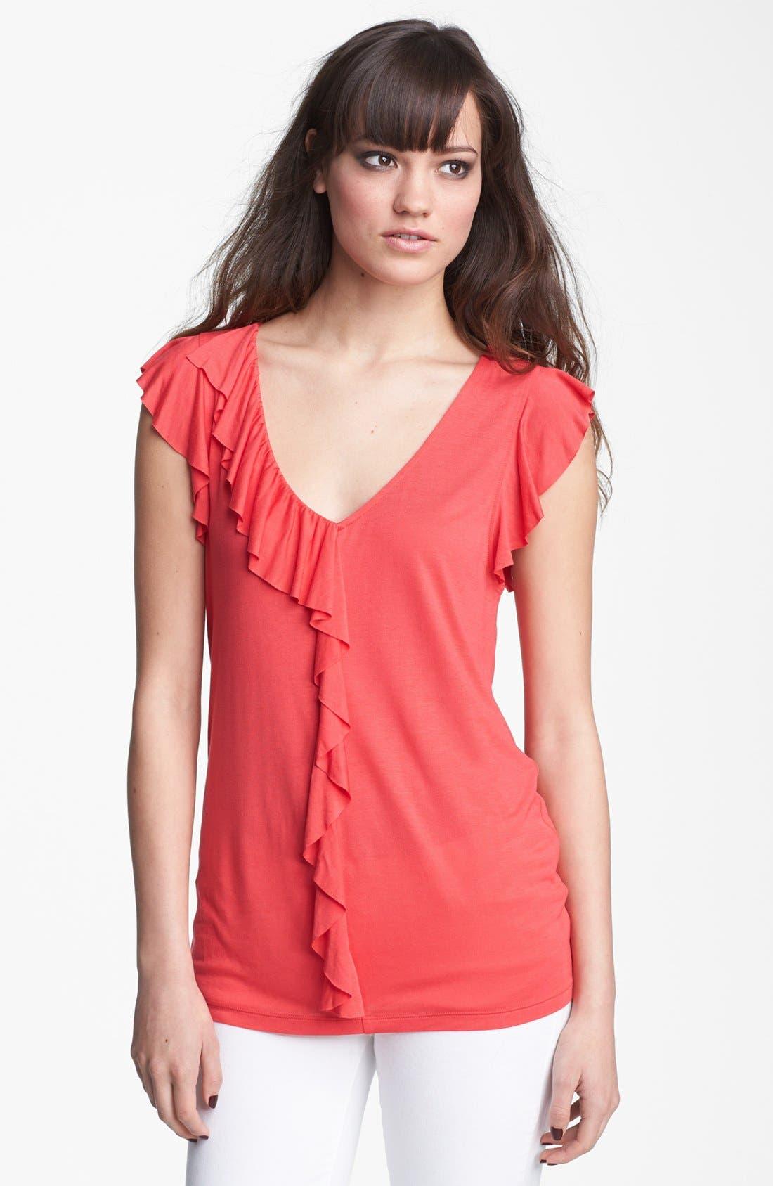 Alternate Image 1 Selected - Hinge® Ruffle Knit Top