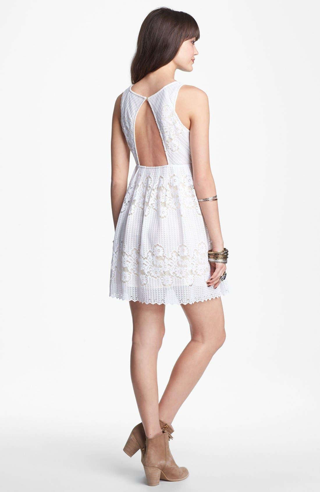 Alternate Image 2  - Free People 'Rocco' Cutout Lace Dress